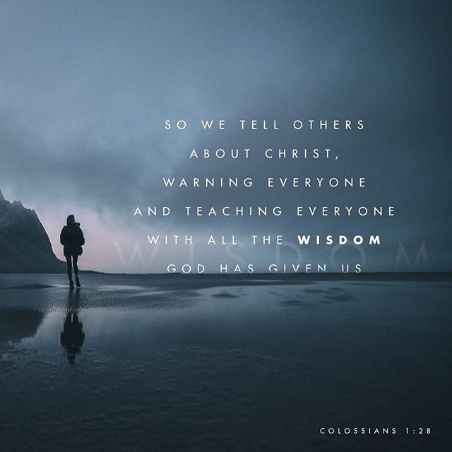 Him we proclaim, warning everyone and teaching everyone with all wisdom, that we may present everyone mature in Christ. For this I toil, struggling with all his energy that he powerfully works within me. Colossians 1:28-29 ESV . Which part of this passage most stands out to you? . May his powerful energy fill you and lead you this week.