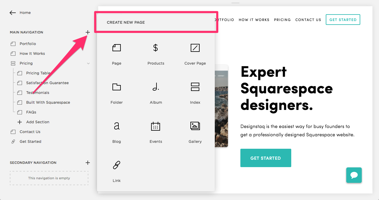 Navigation_Section_Create_New_Page