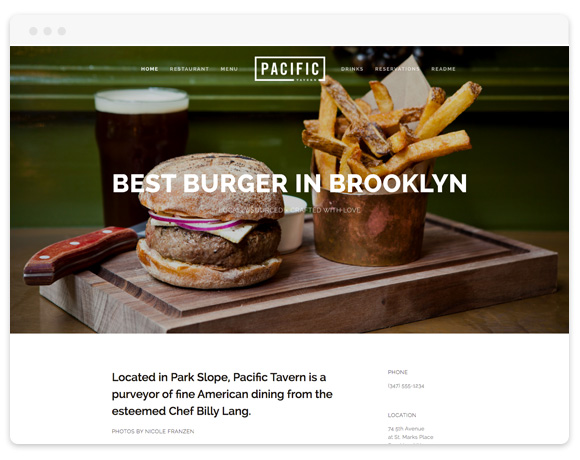 Pacific Squarespace Template