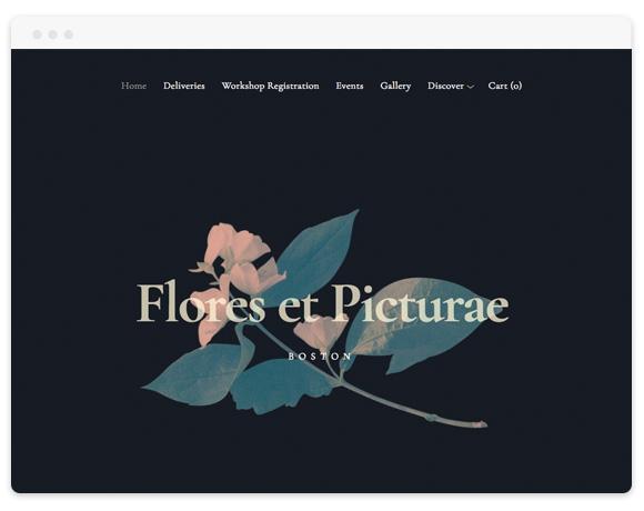 Flores Squarespace Template