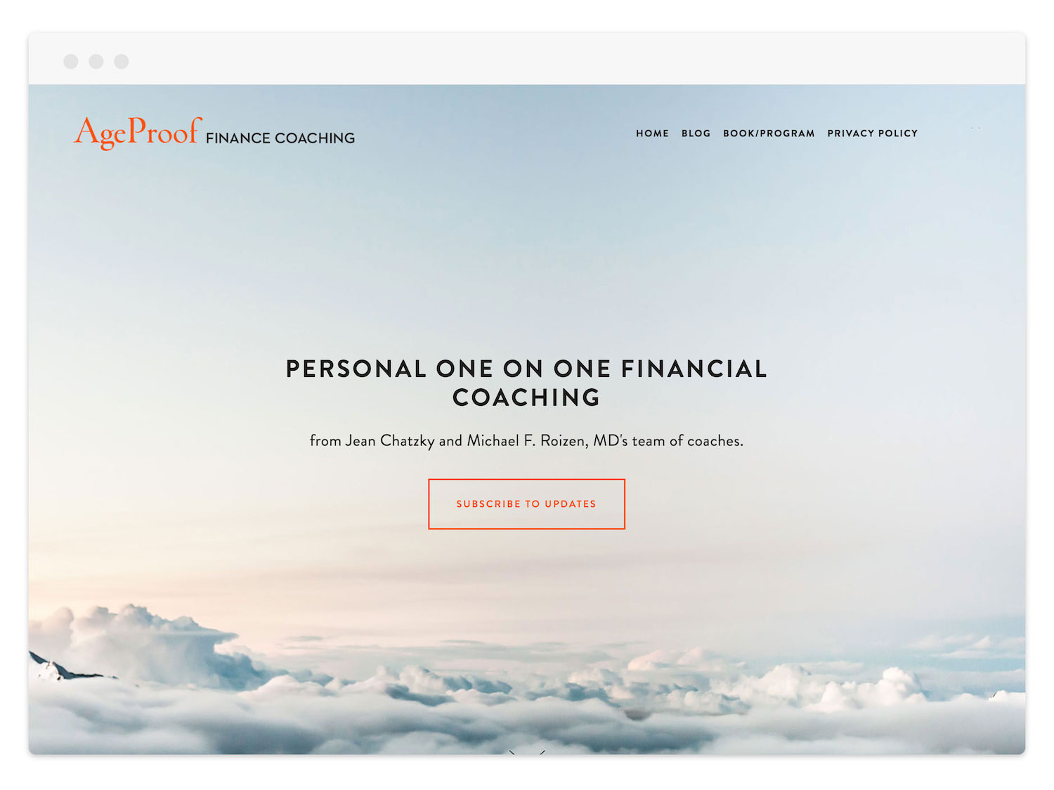 AgeProof  (Financial Coaching)