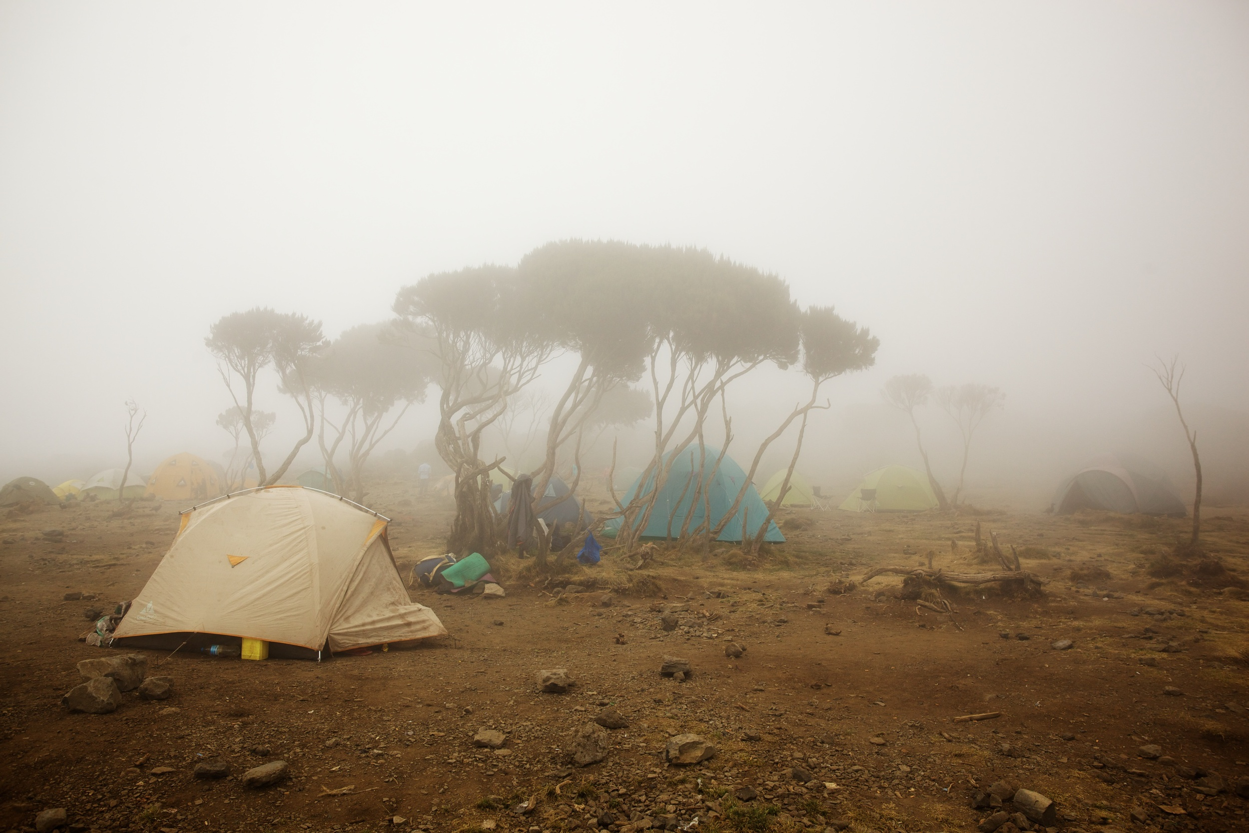 Storm at Shira Camp, 3940 asml Kilimanjaro (TZ), Sep 2012