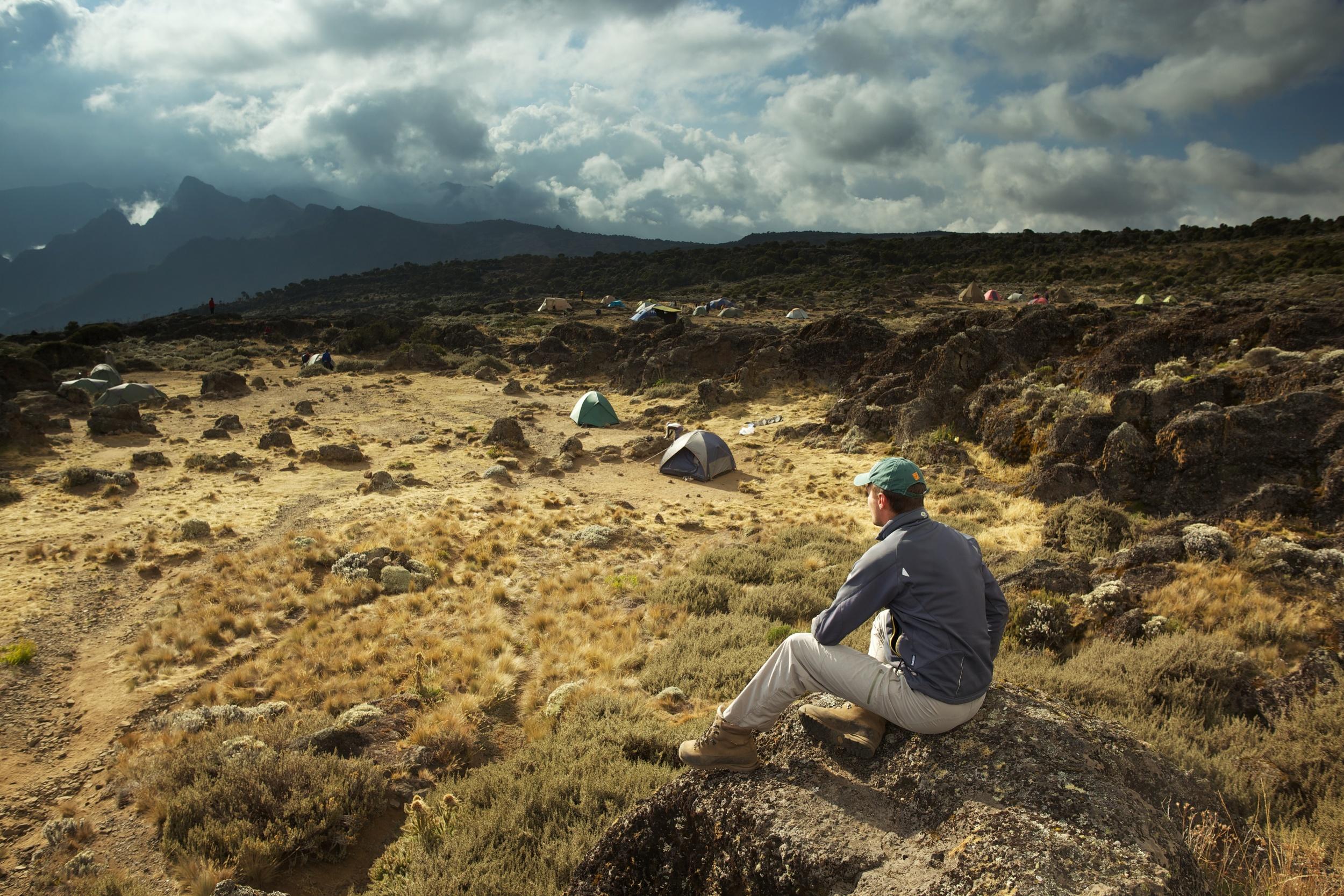 Georgi @ Shira Camp, 3940asml, Kilimanjaro (TZ), Sep 2012