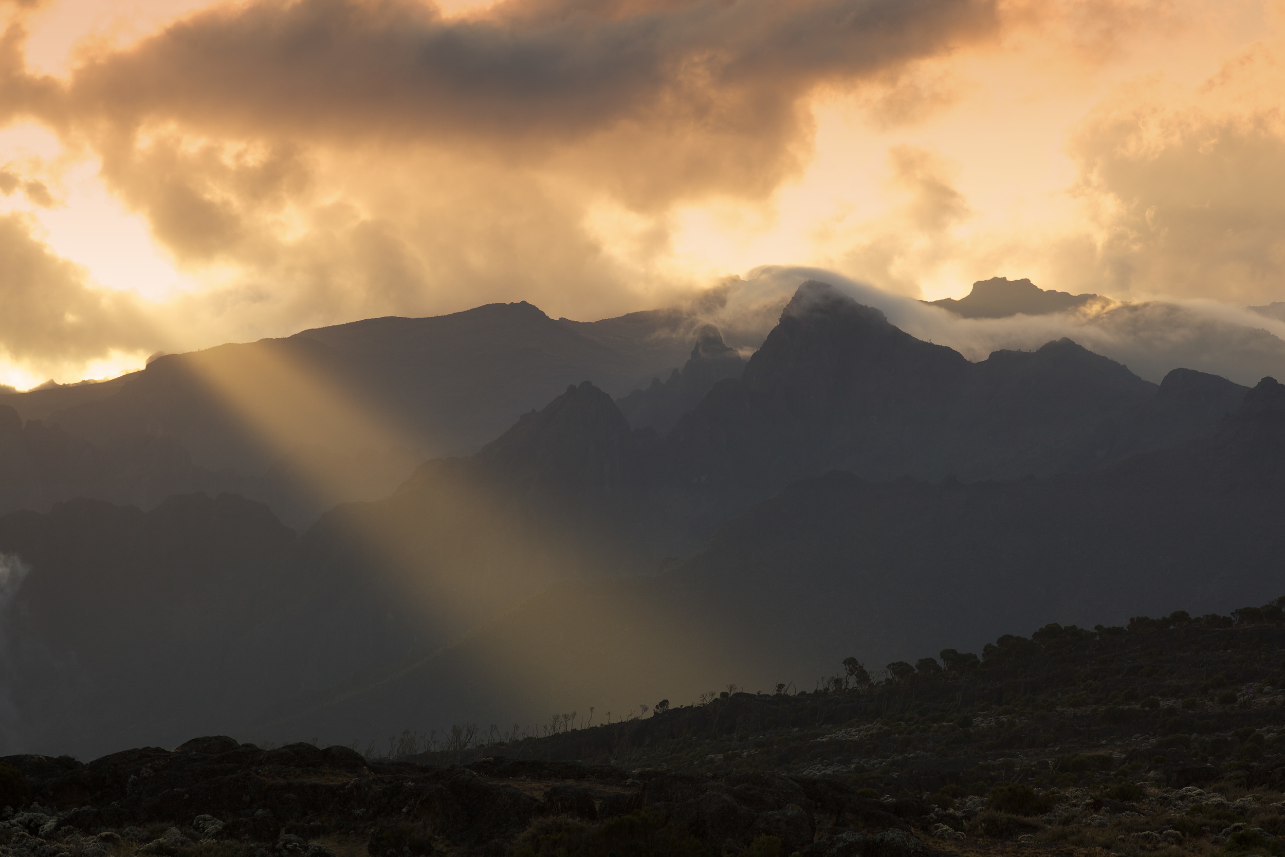 Magic Light, Shira Camp, 3940 asml, Kilimanjaro (TZ), Sep 2012