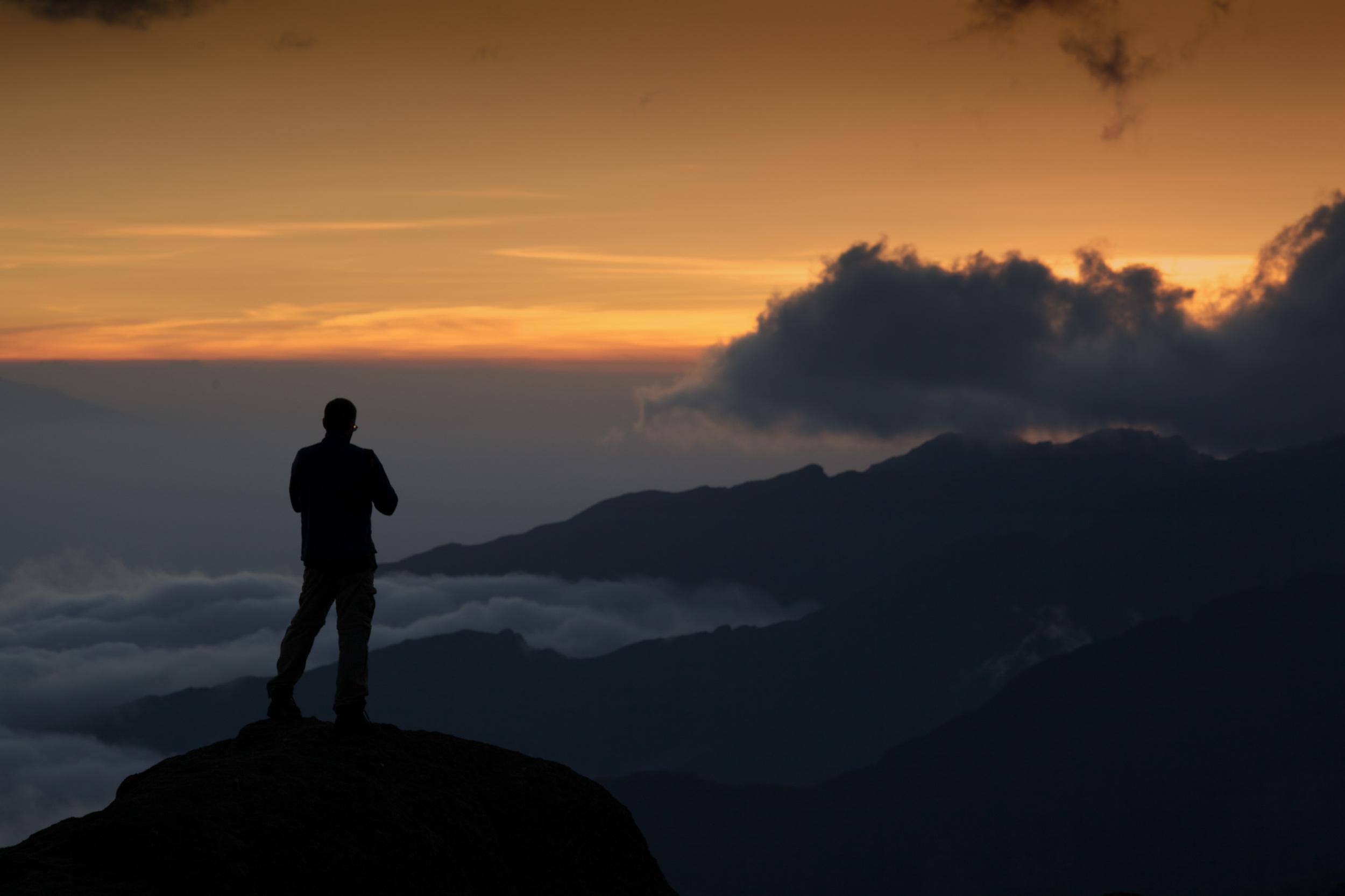 Sunset at Shira Camp, 3940 asml, Kilimanjaro (TZ), Sep 2012