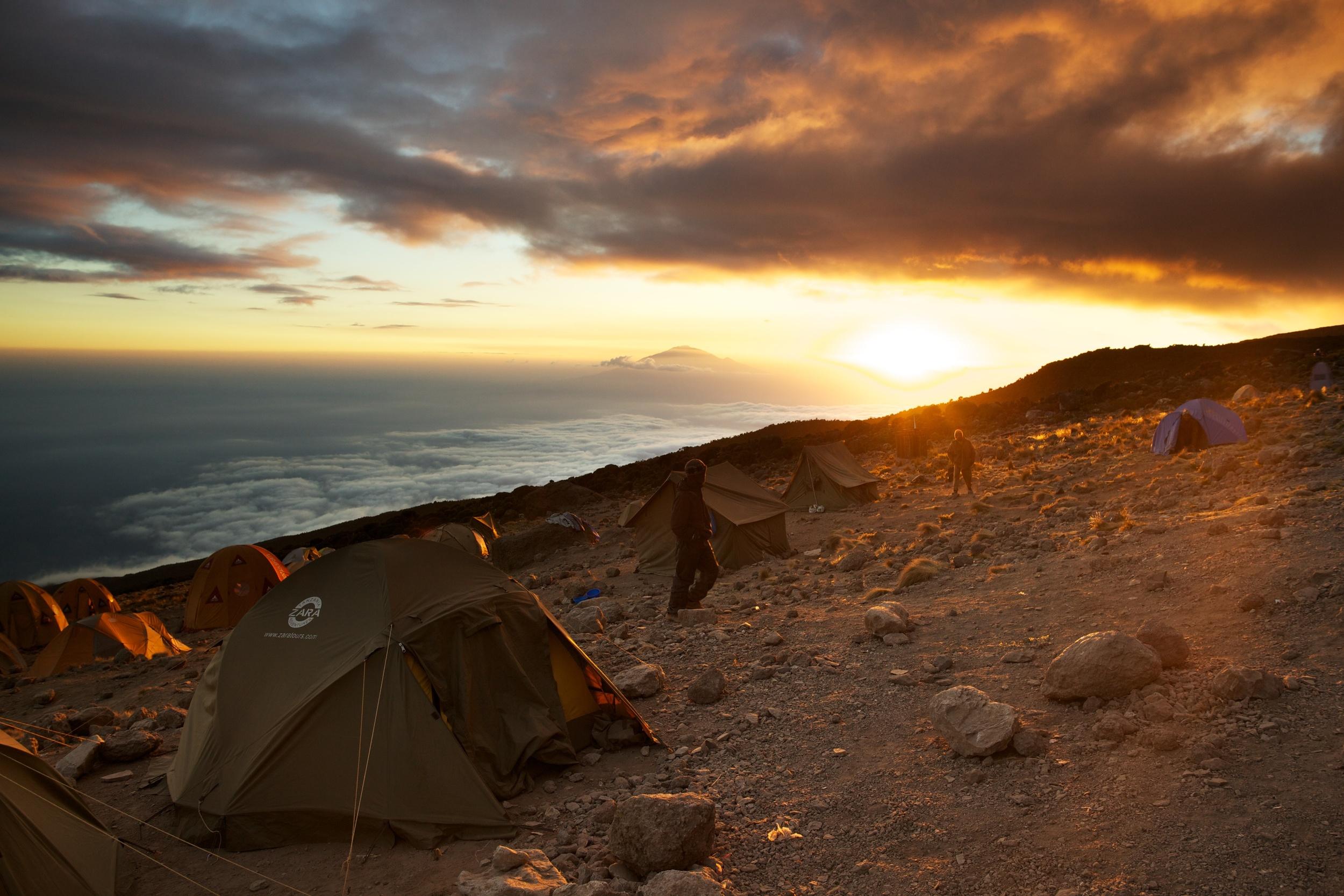 Sunset at Karanga Camp, Kilimanjaro (TZ)