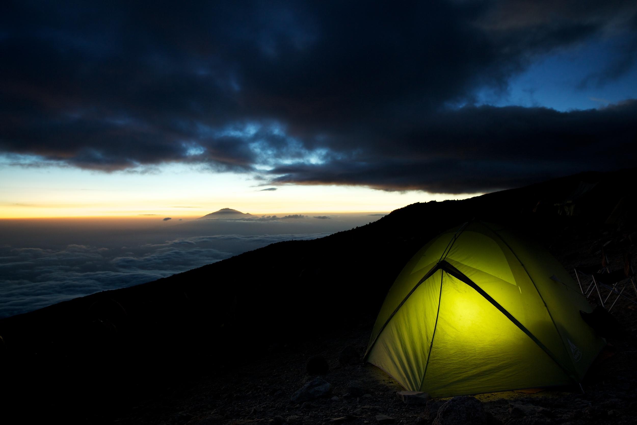 Twilight, Karanga Camp, Mt. Kilimanjaro (TZ)