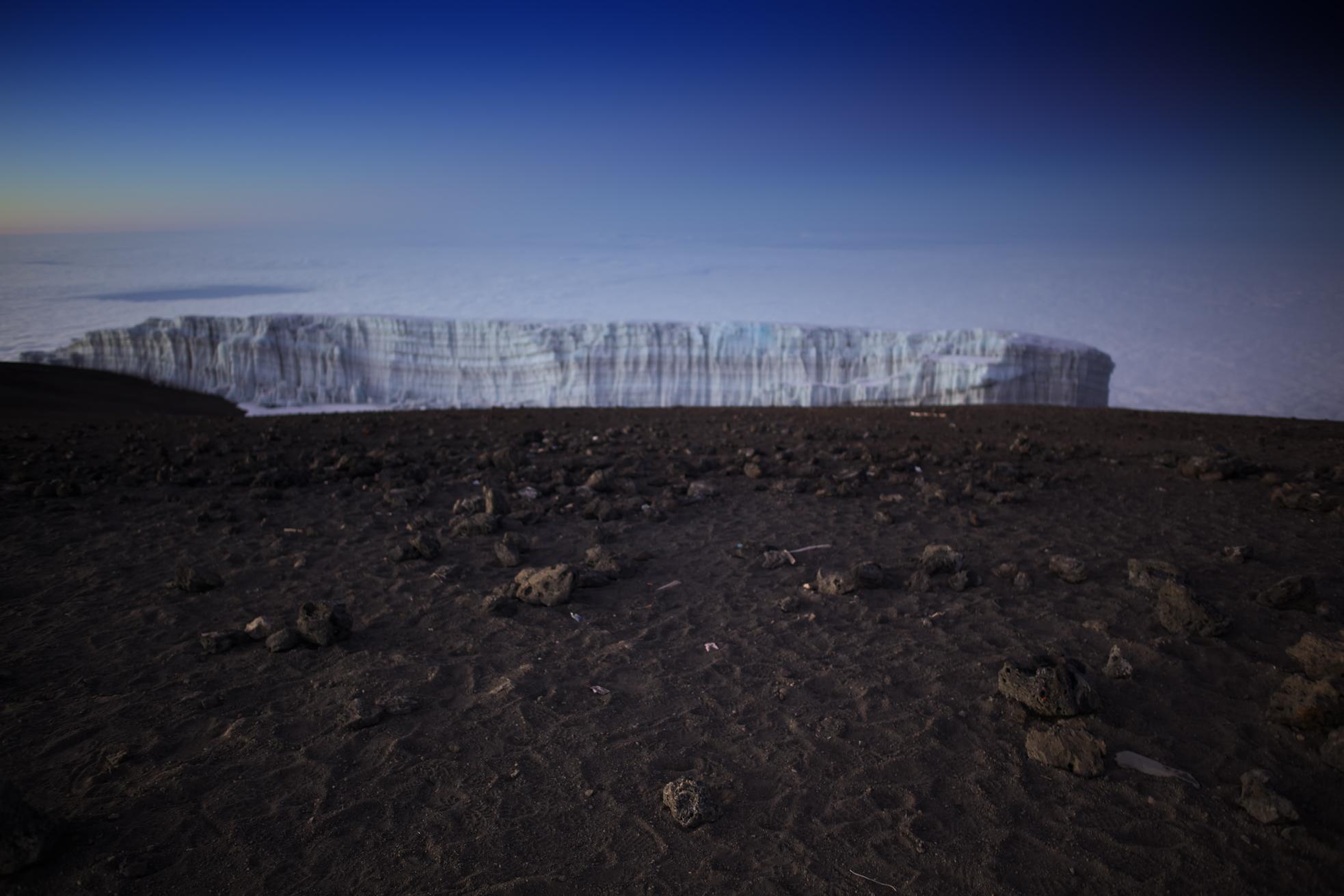 Glacier on top of Mt. Kilimanjaro (TZ)