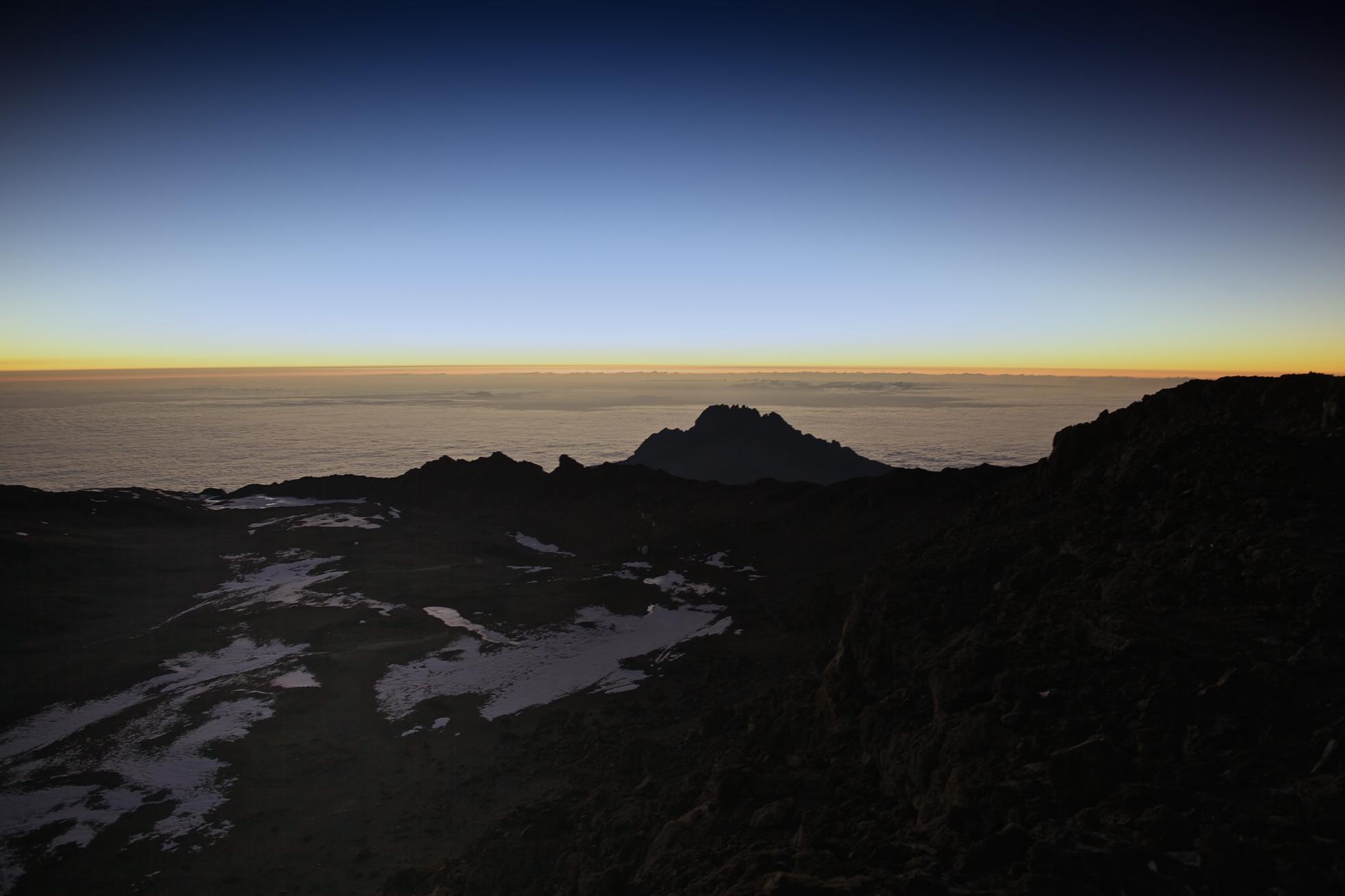 The view from Uhuru Peak 5895masl, Mt. Kilimanjaro (TZ)