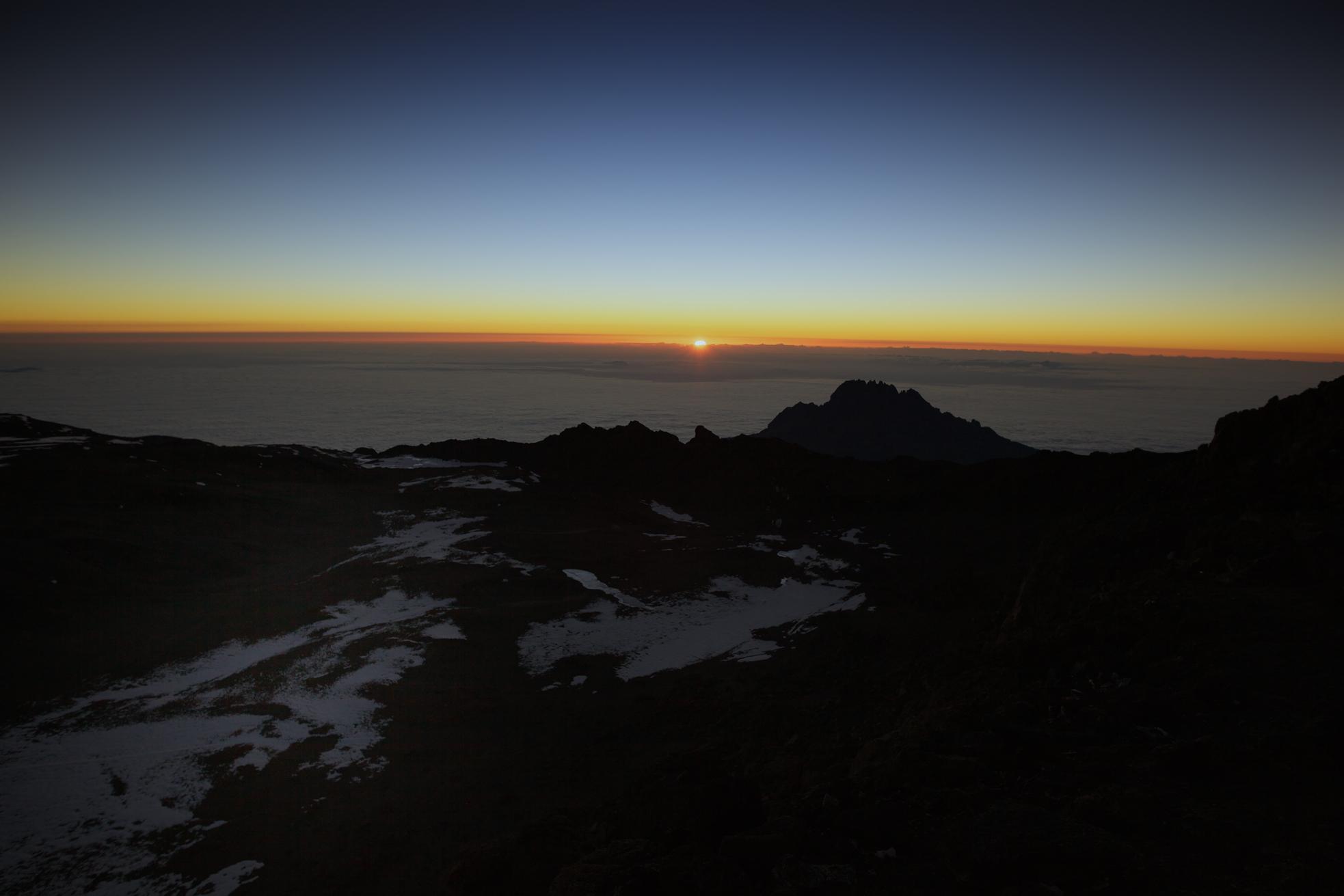 Sunrise at Uhuru peak 5895masl, Mt. Kilimanjaro (TZ)