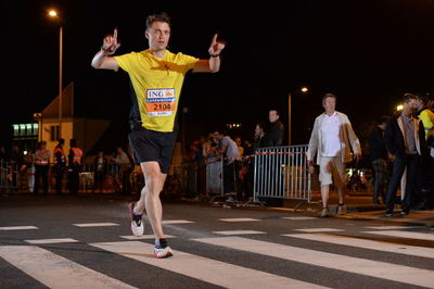 Georgi approaching the final, Luxembourg