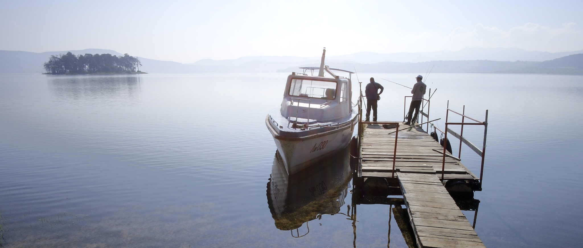Fishermen in Batak Dam