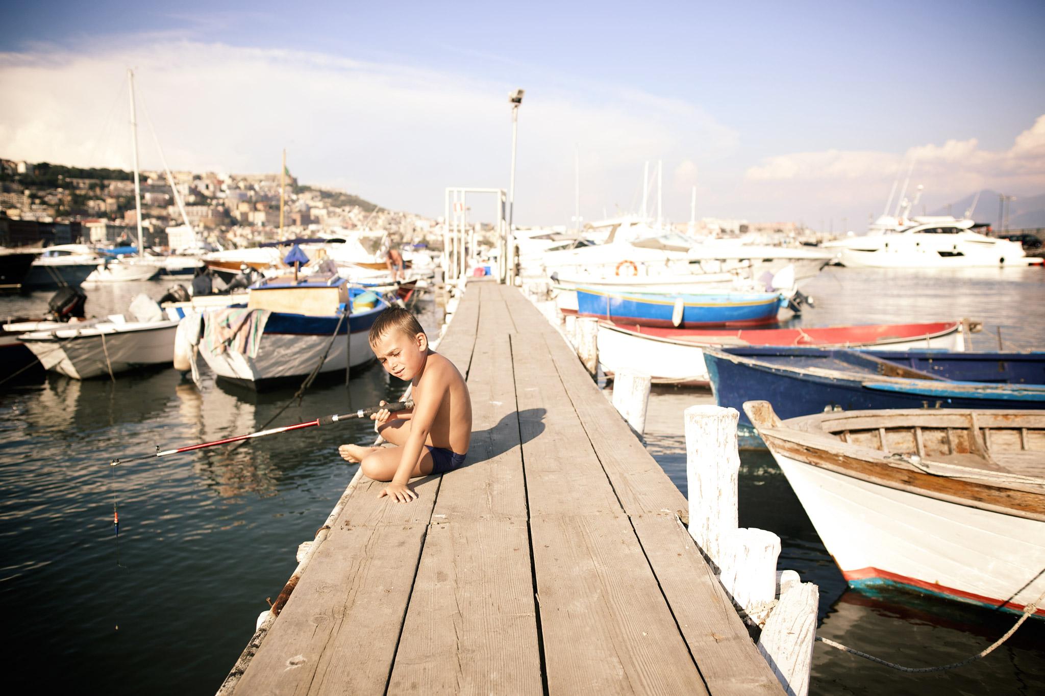 Little fisherman, Naples
