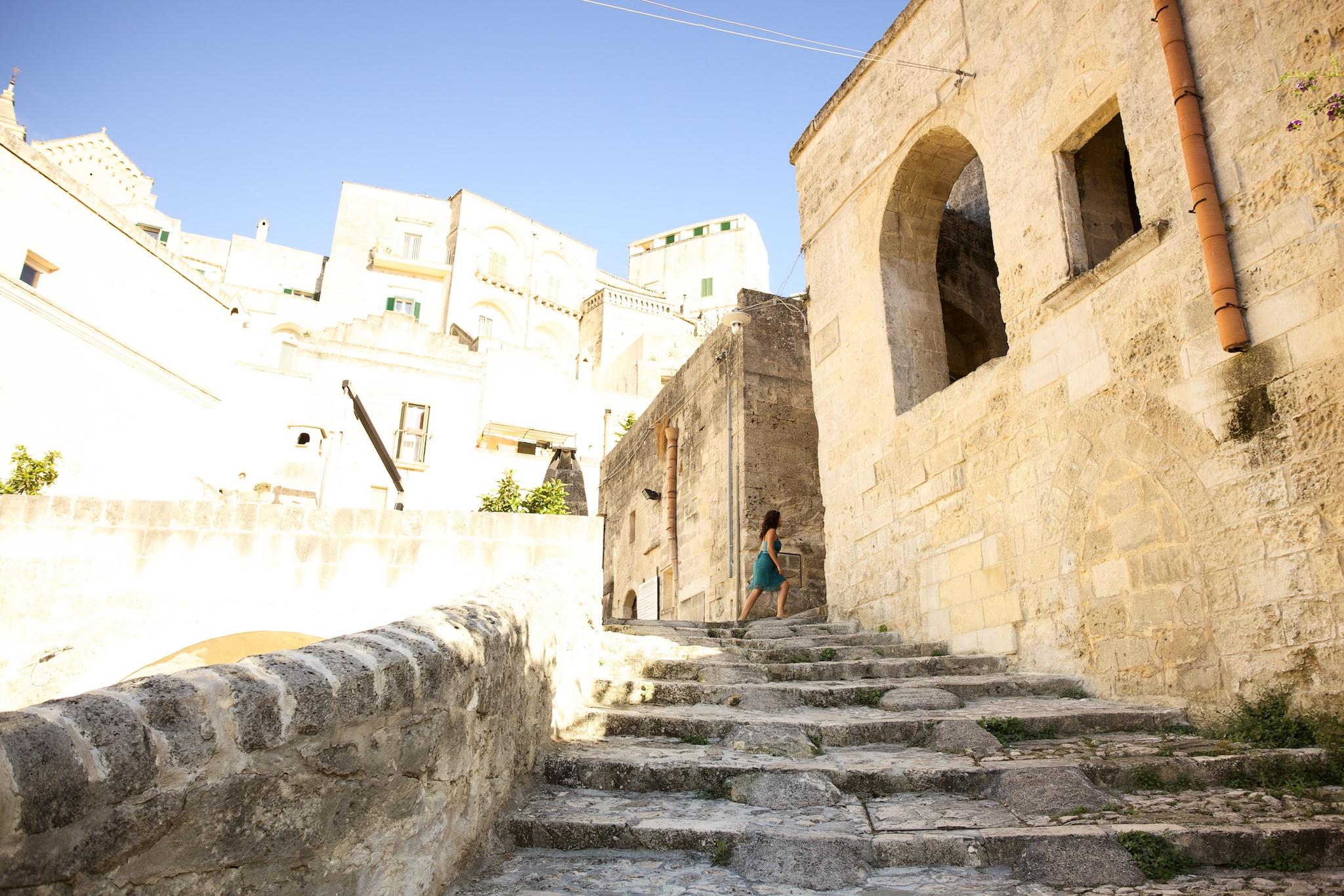 Matera exploring Sassi, Matera