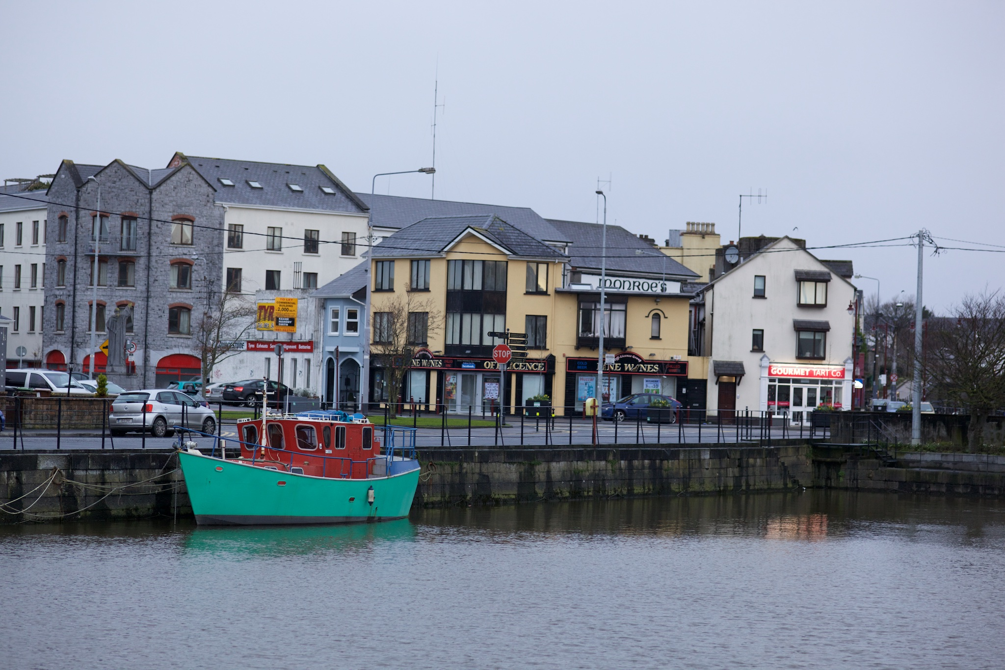The downtown of Galway, Ireland