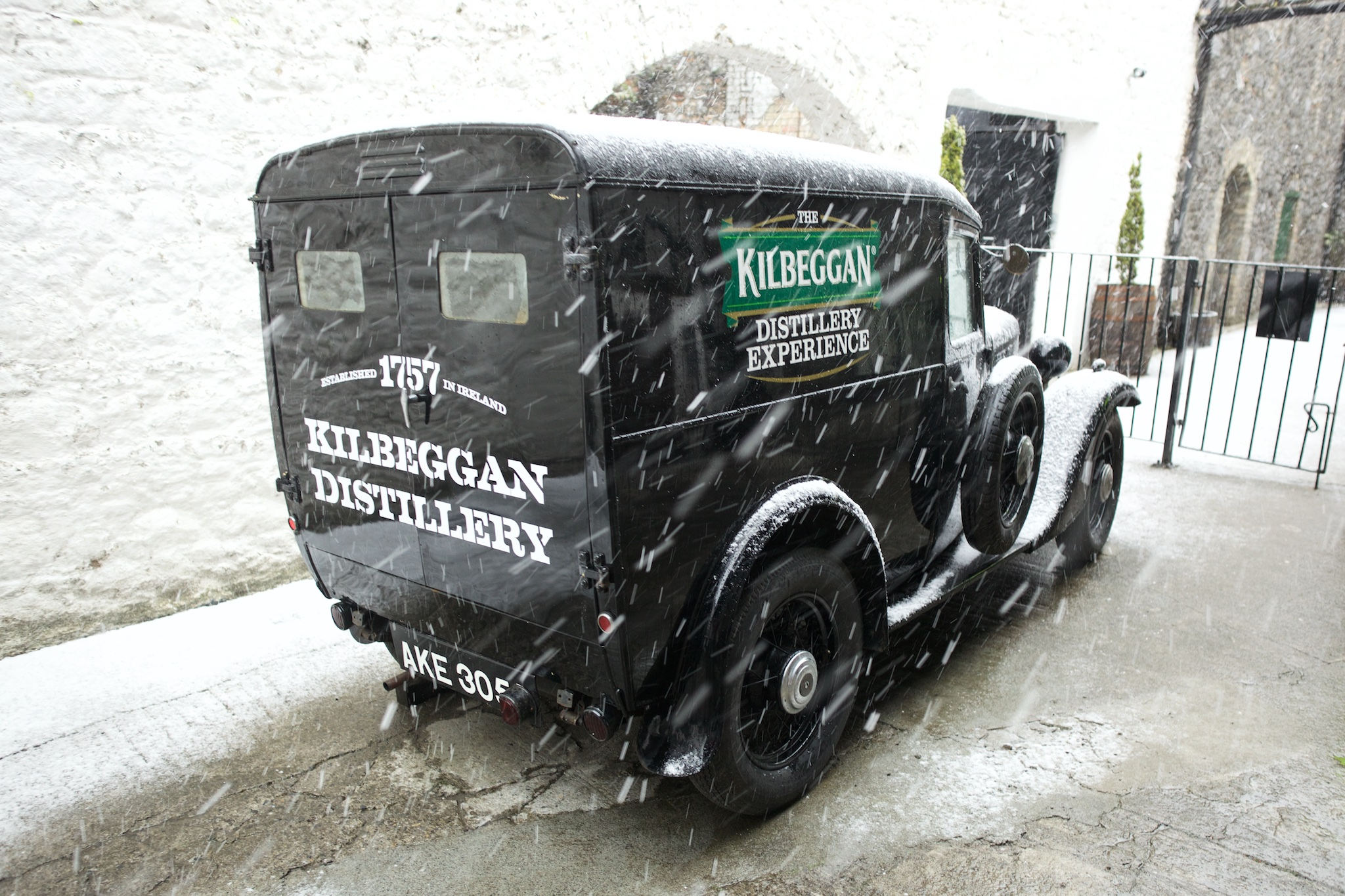 Old whiskey delivery truck, Kilbeggan, Ireland