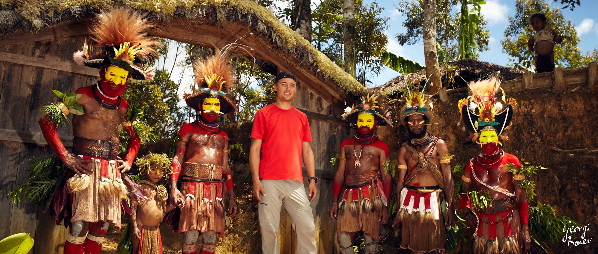 HULI WIGMEN VILLAGE & GEORGI IN PAPUA NEW GUINEA'S JUNGLE