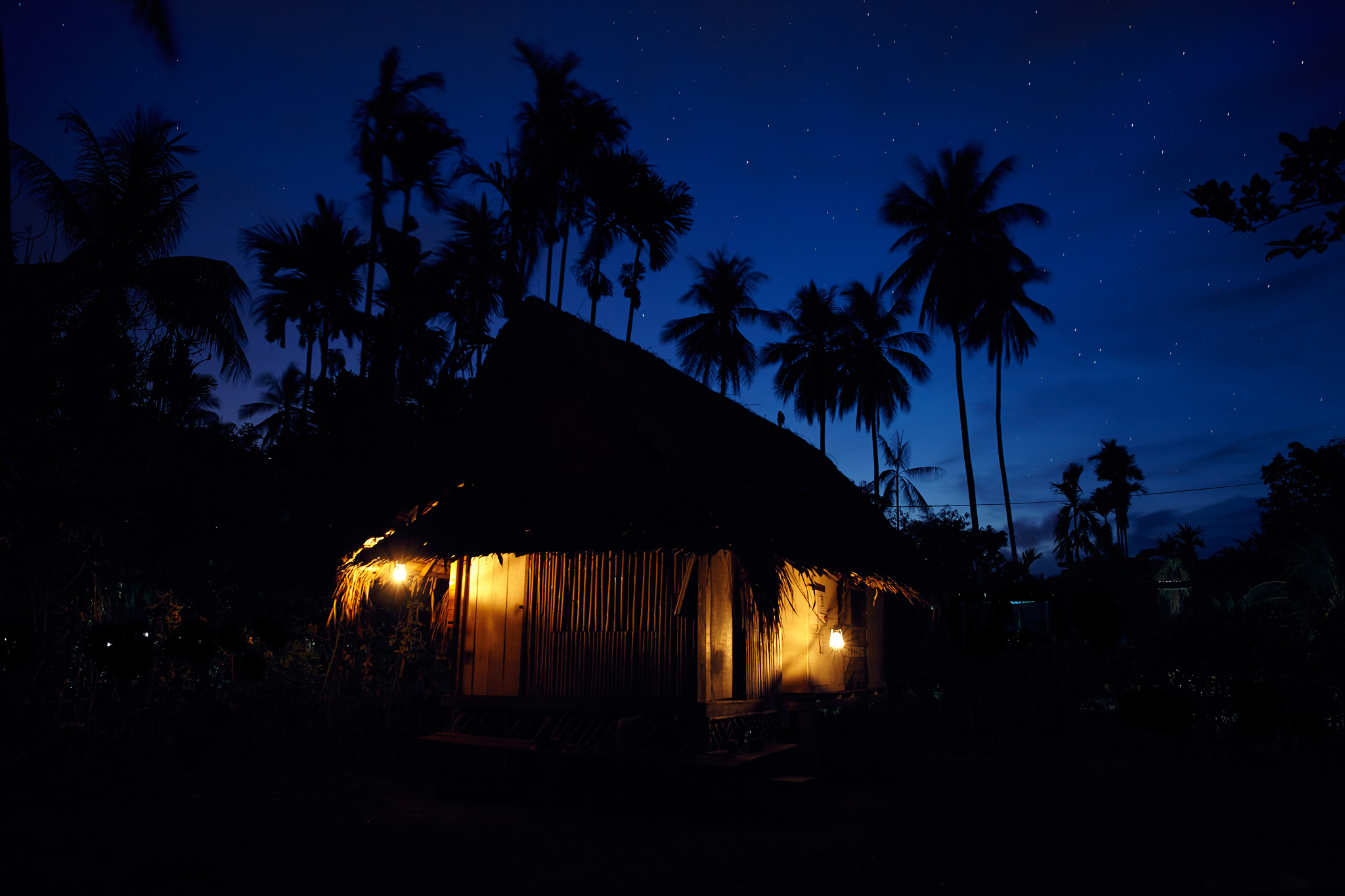 Twilight in Kranket Island, Papua New Guinea