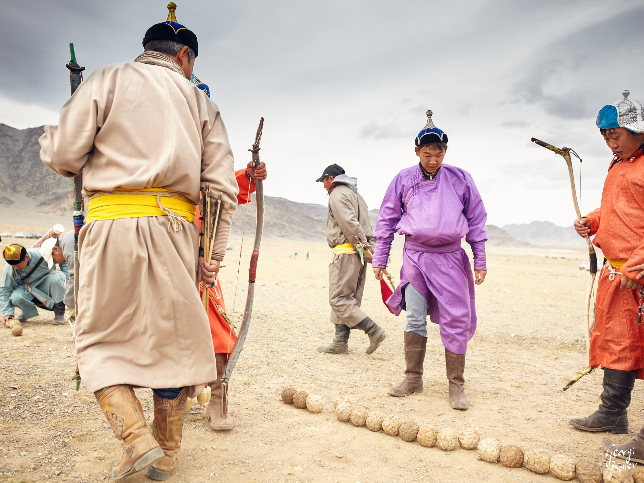 Kazakh Archers in Altai Mountain