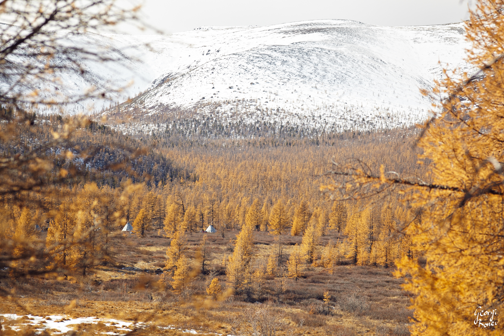 Tsagaannuur Steppe in Mongolia