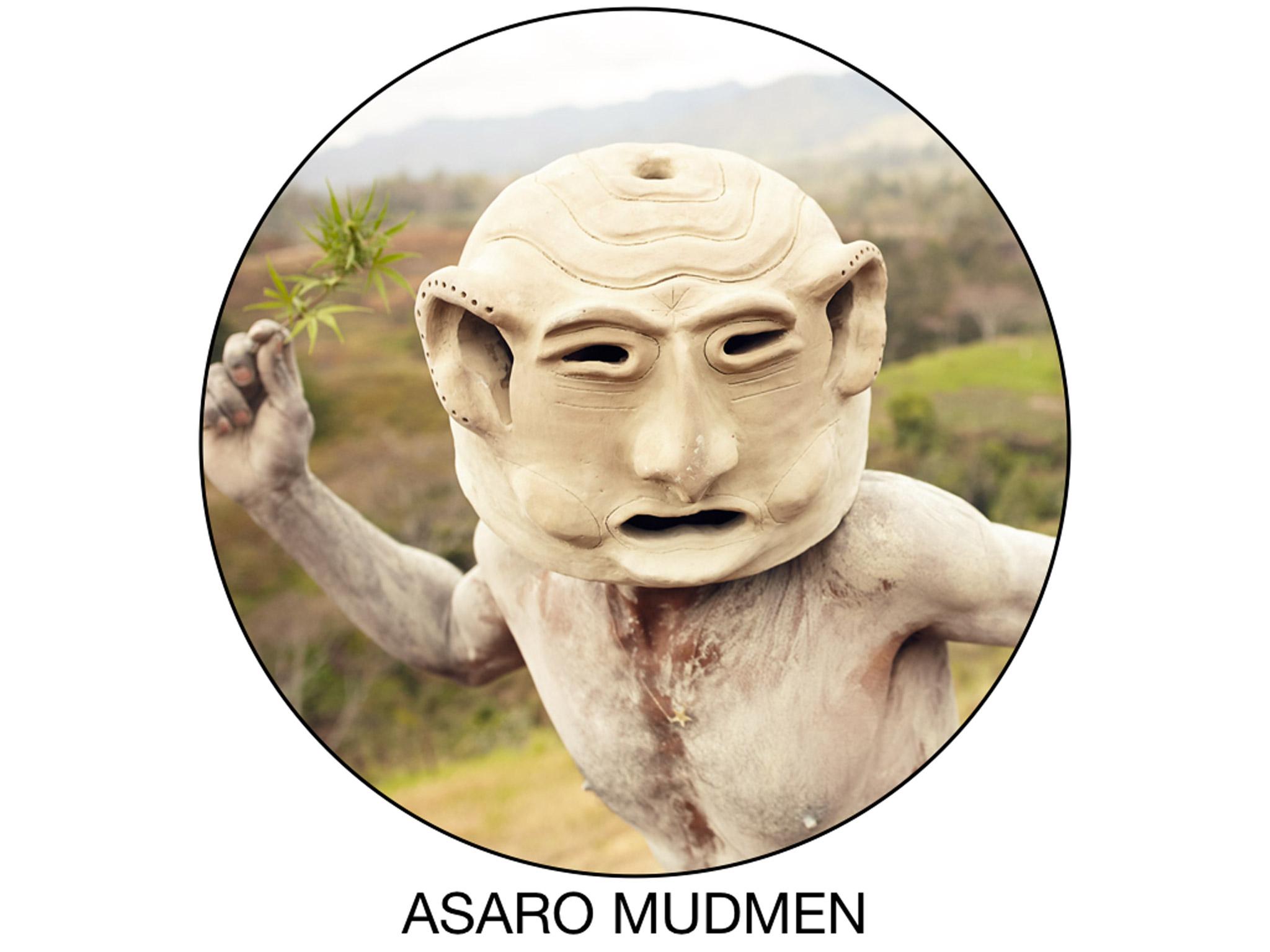 Asaro Mudmen warrior portrait