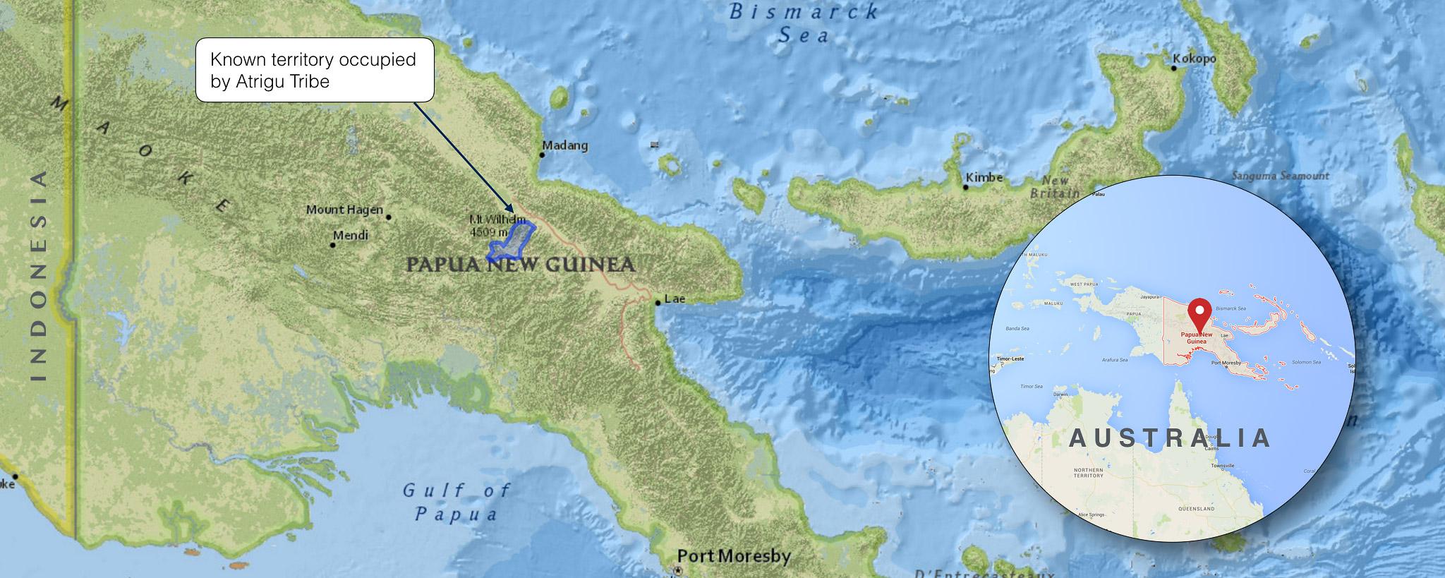 ATRIGU TRIBE CONTROLLED TERRITORY IN PAPUA NEW GUINEA