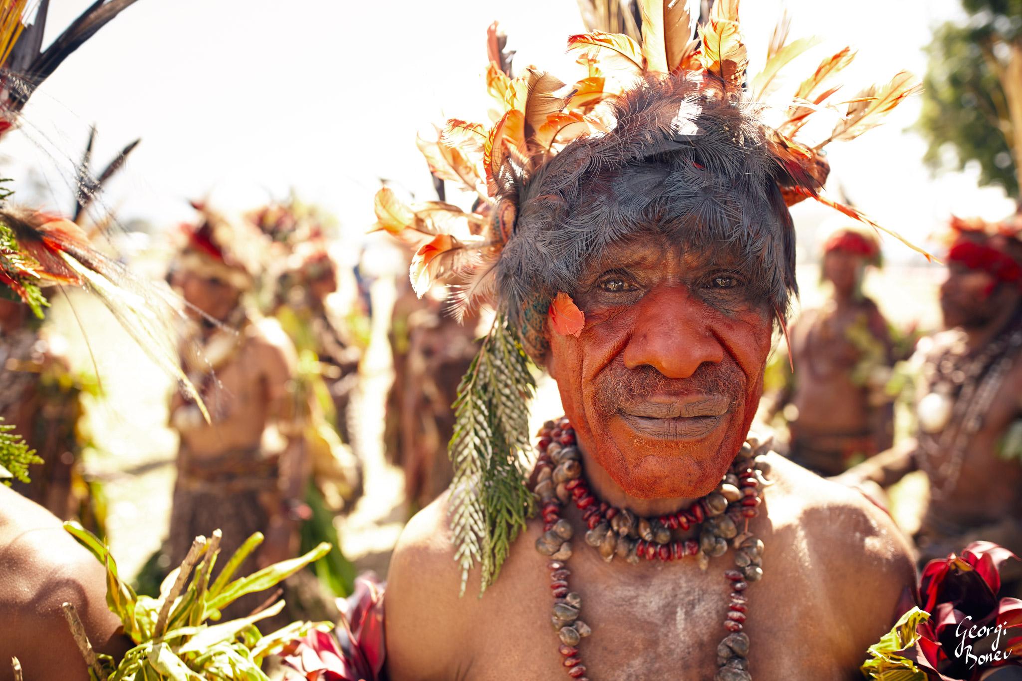 YEPIMAGO IS ATRIGU WARRIOR IN PAPUA NEW GUINEA'S HIGH LAND