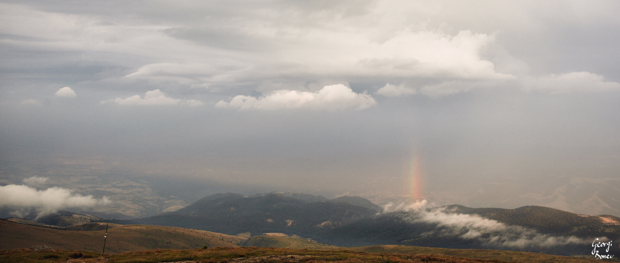 Rainbow above Mt. Stara Planina, Bulgaria