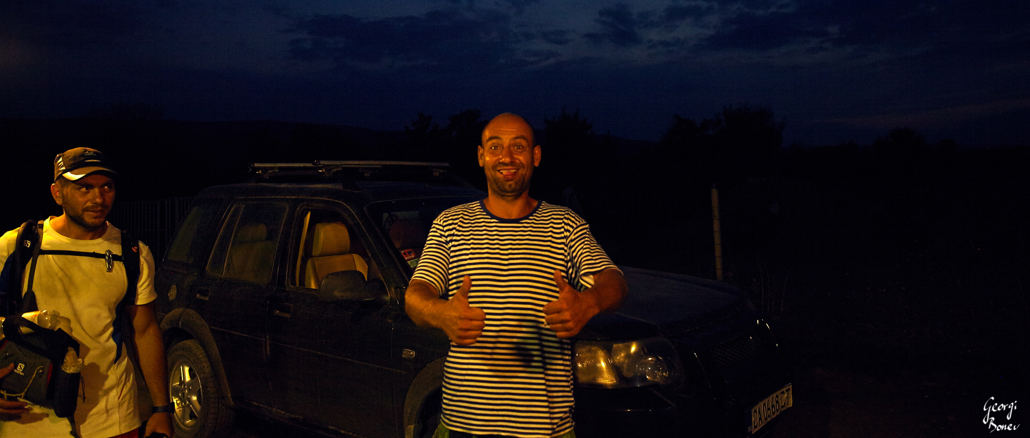 Misho & the guy who gave us a ride to Irakli beach, Bulgaria