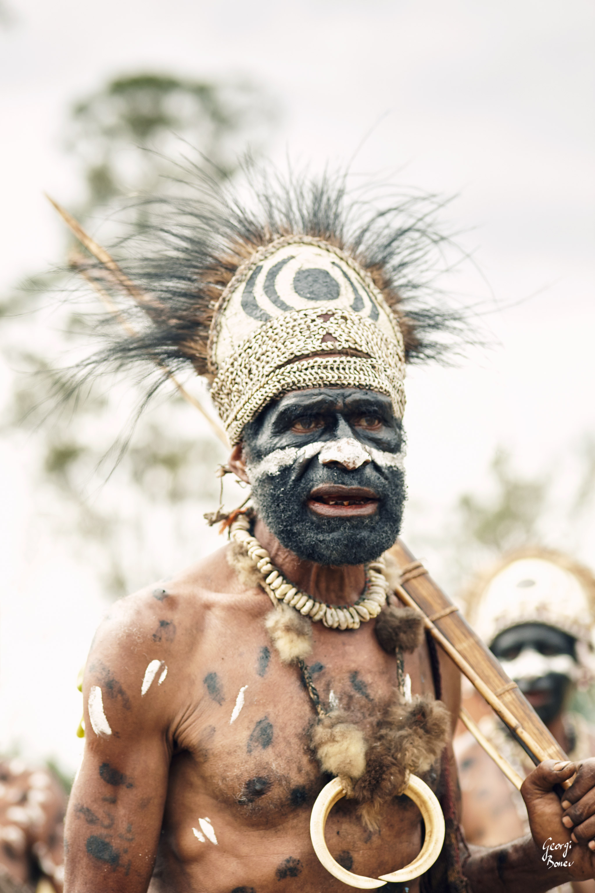 GILABANI WARRIOR IN PAPUA NEW GUINEA