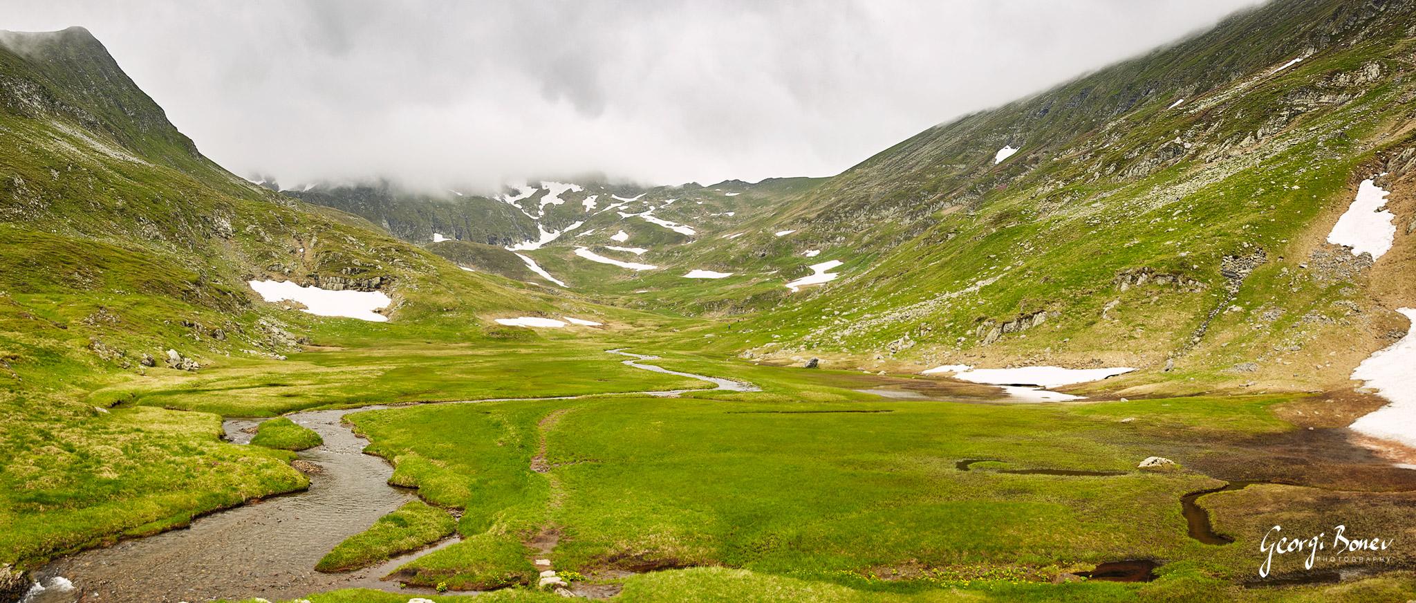 1st terasse on the way to Moldoveanu Peak, Fagaras Mountain, Romania