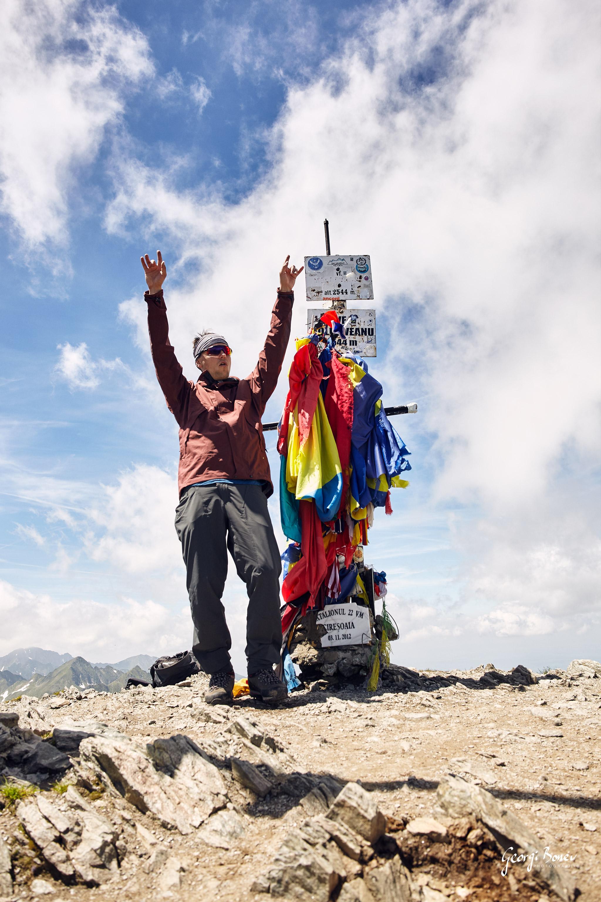 Georgi at Moldoveanu Peak (2544m), Romania