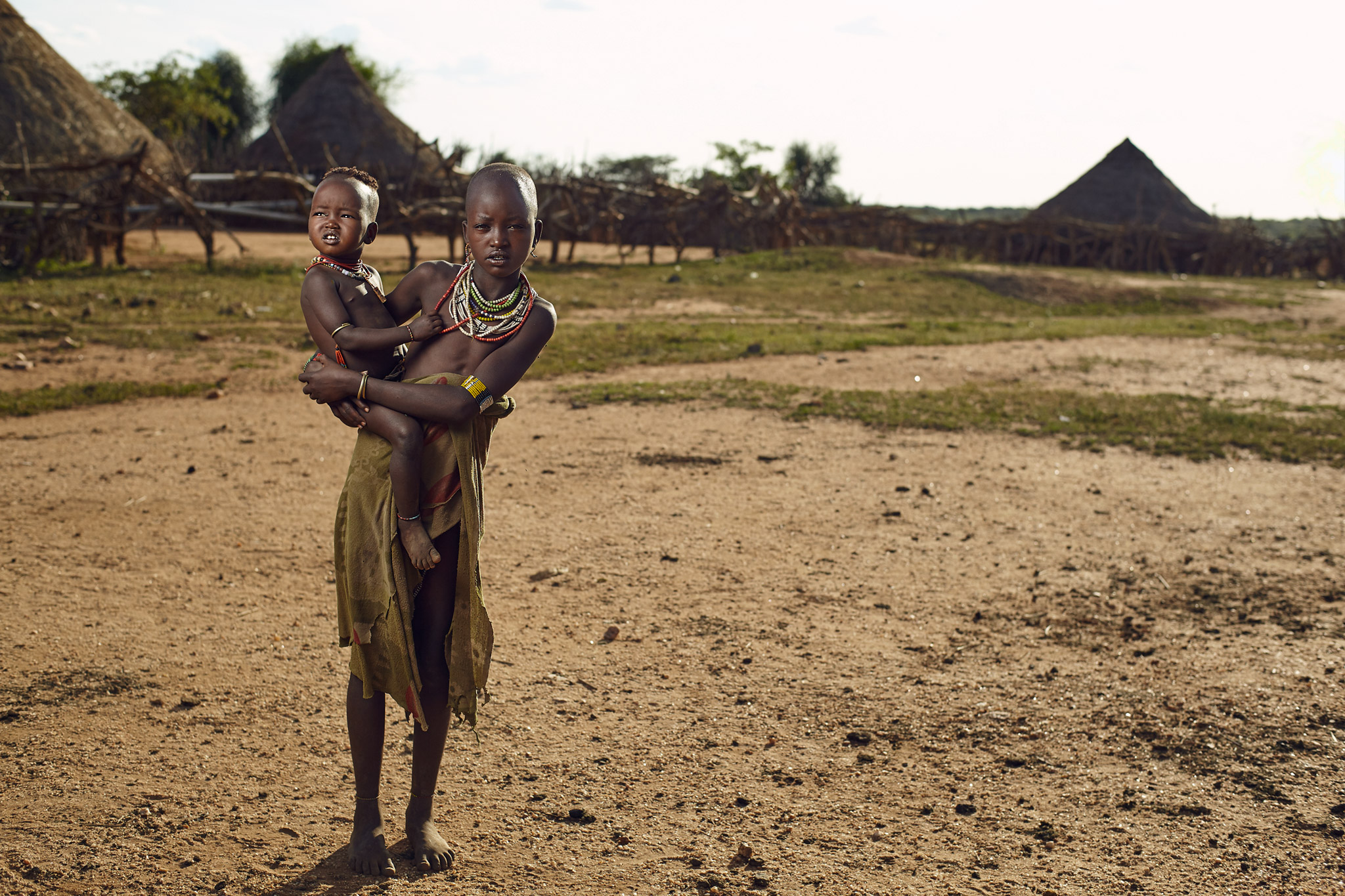 HAMAR KIDS IN LOWER OMO VALLEY, ETHIOPIA