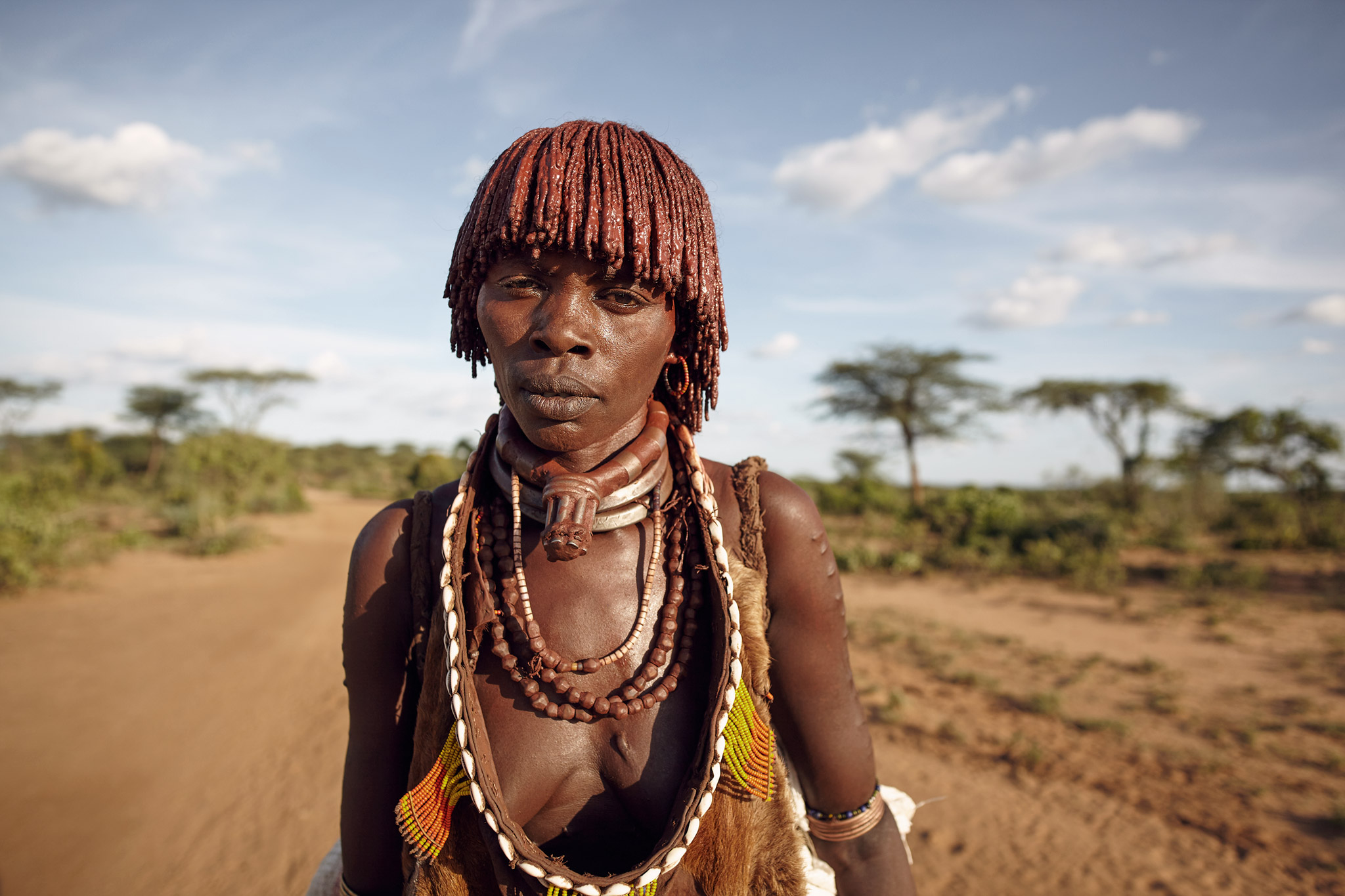 HAMAR WOMAN IN LOWER OMO VALLEY, ETHIOPIA