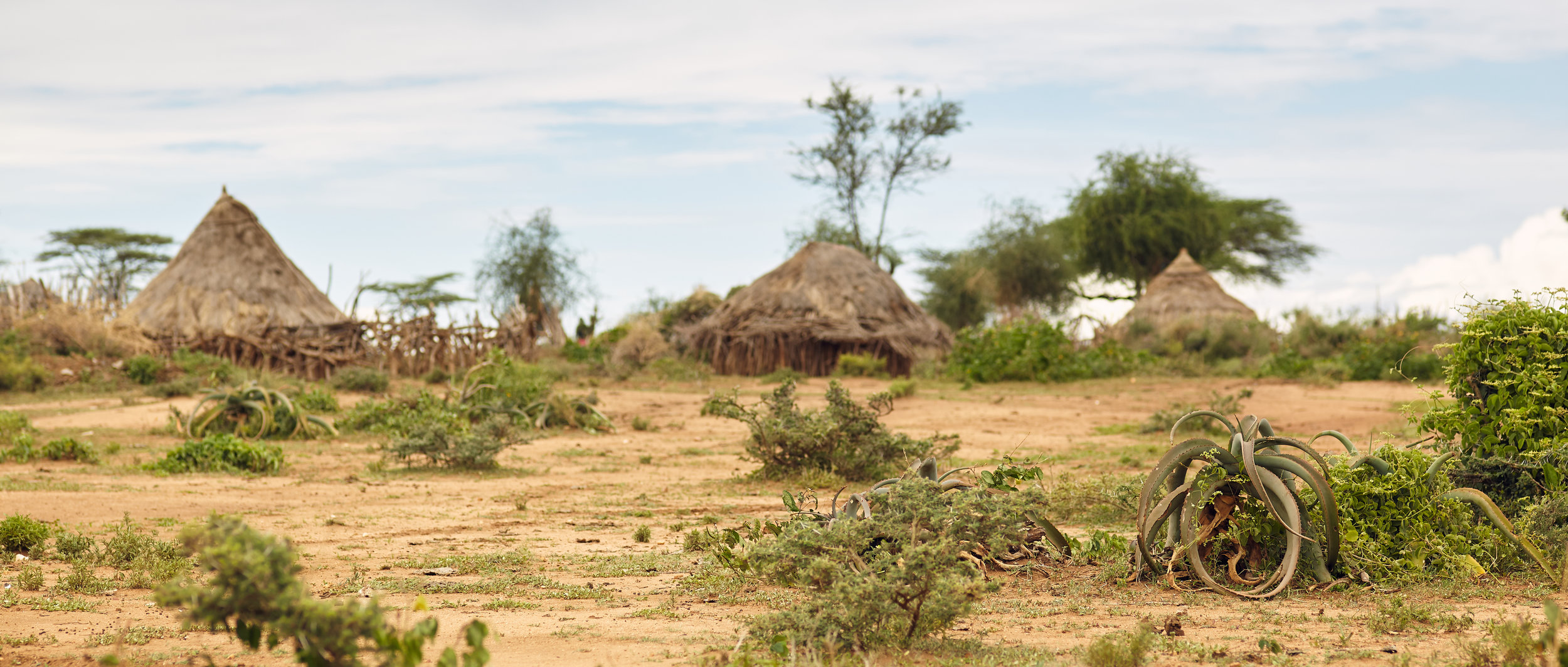 HAMAR VILLAGE IN LOWER OMO VALLEY, ETHIOPIA