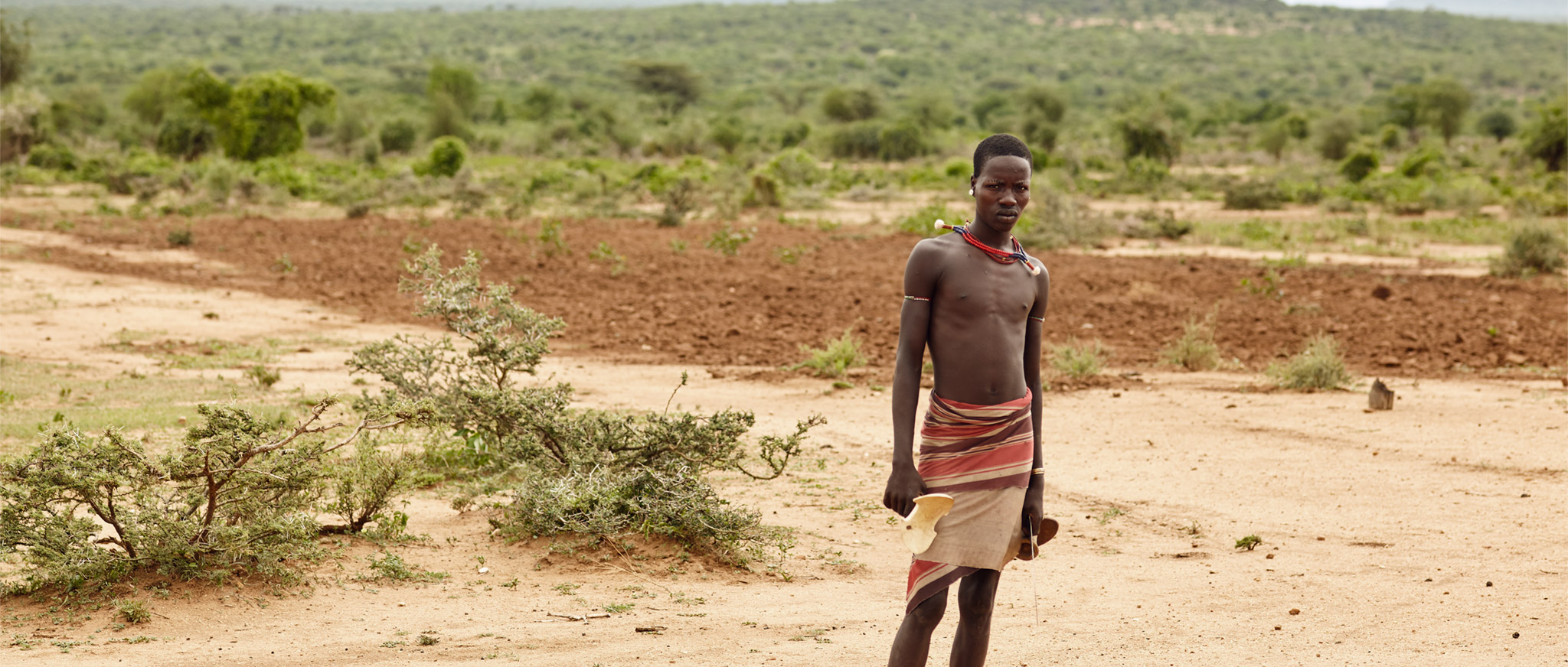 HAMAR BOY IN LOWER OMO VALLEY, EHTIOPIA
