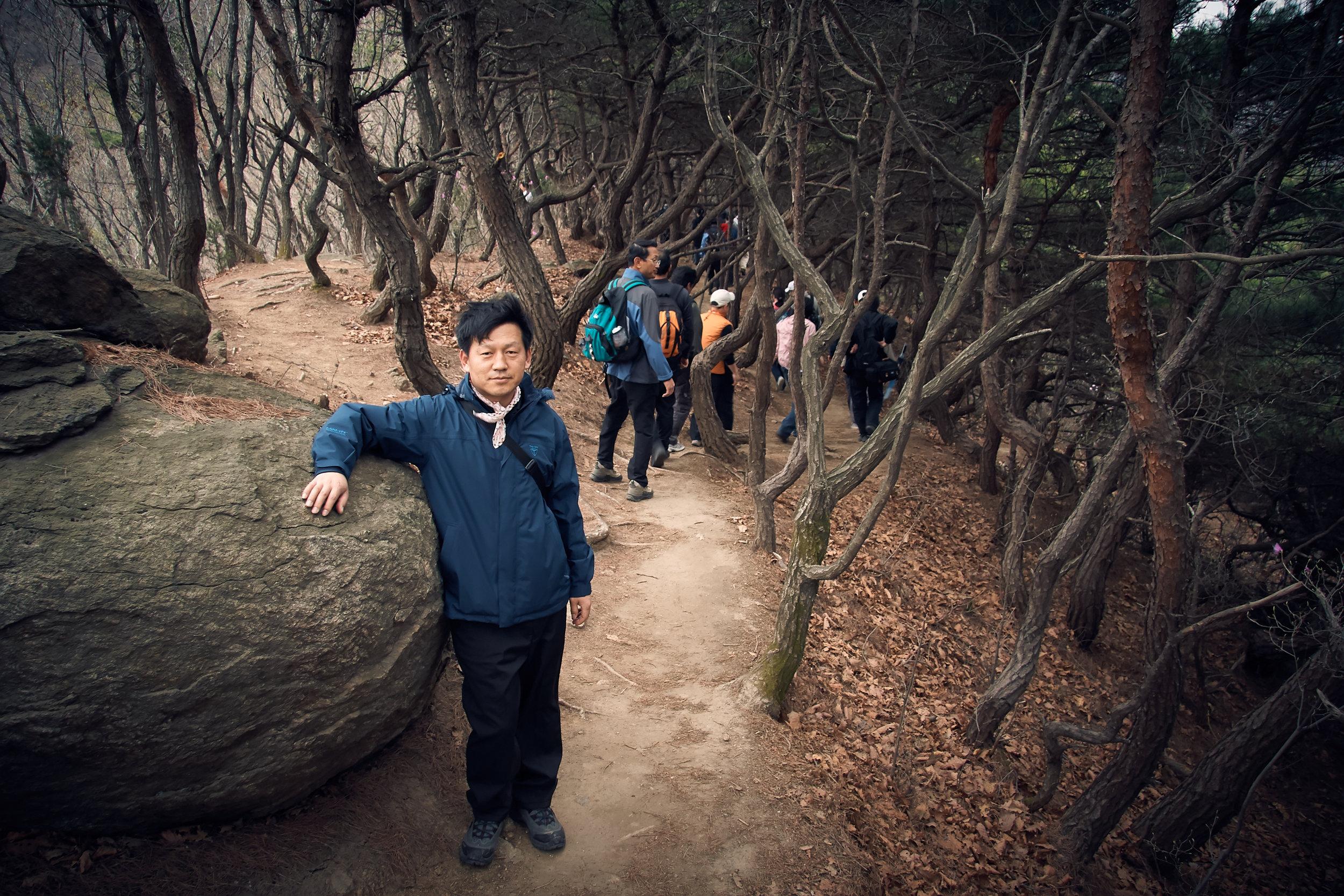 Hiker on Bukhasan Mountain