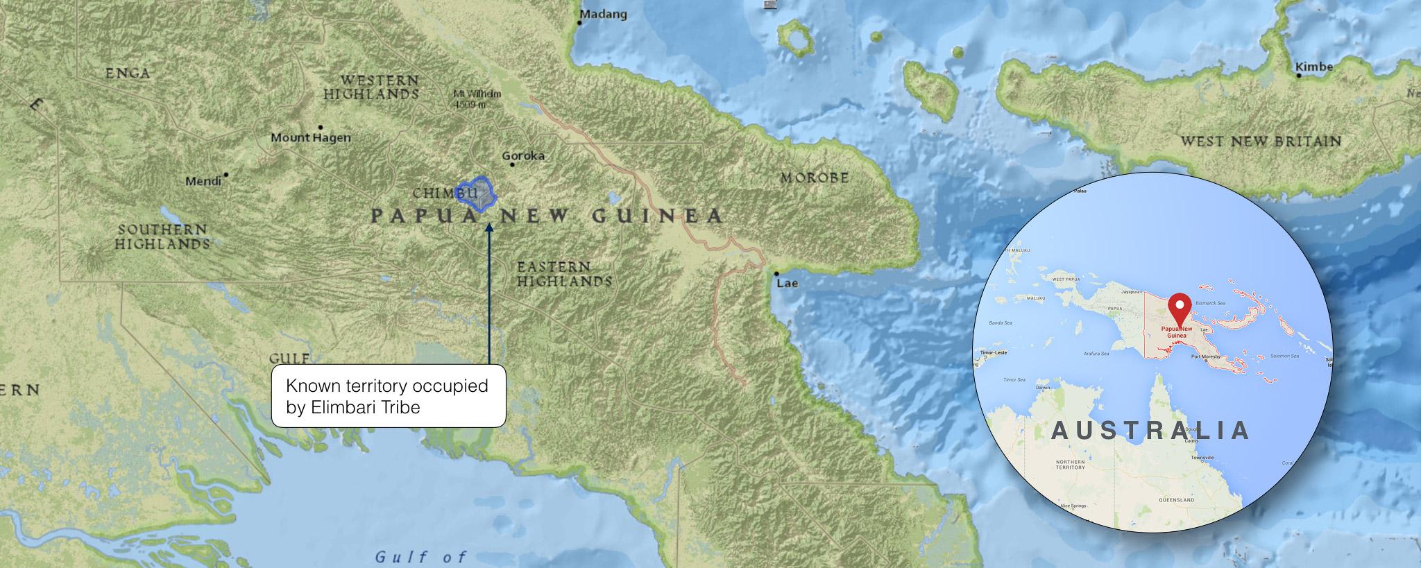 ELIMBARI TRIBE CONTROLLED TERRITORY IN PAPUA NEW GUINEA