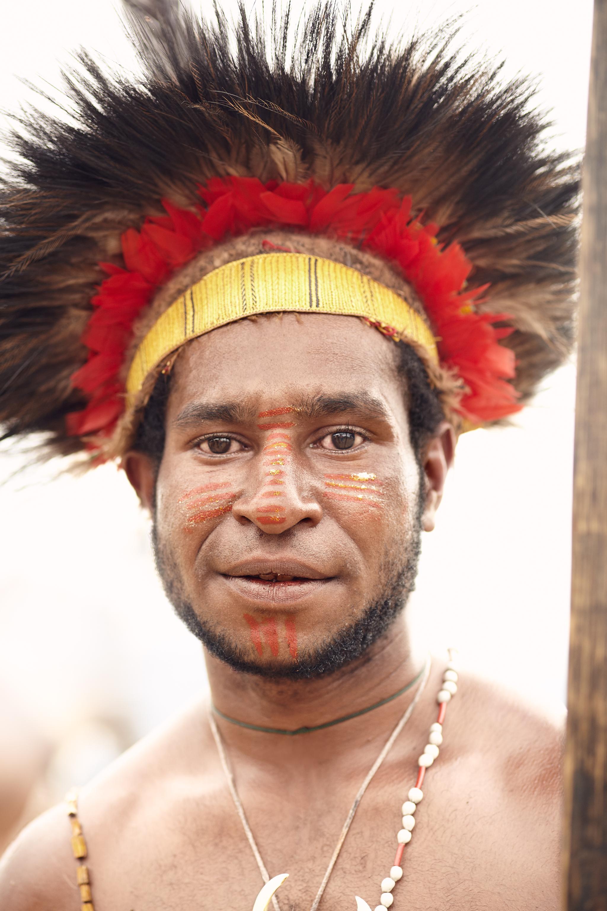 Wotose Tribe Worrior, Papua New Guinea