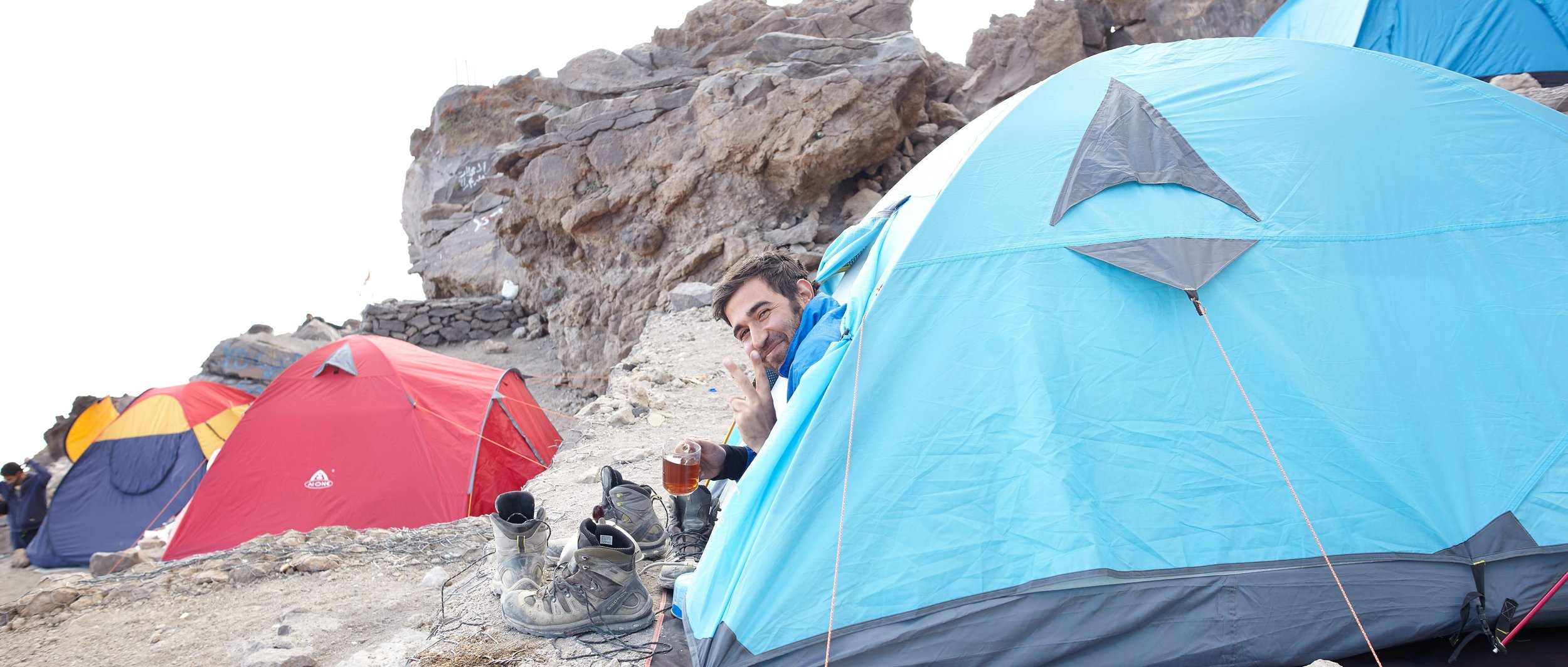 A friendly neighbor at Base Camp (4200m), Mt. Damavand, Iran