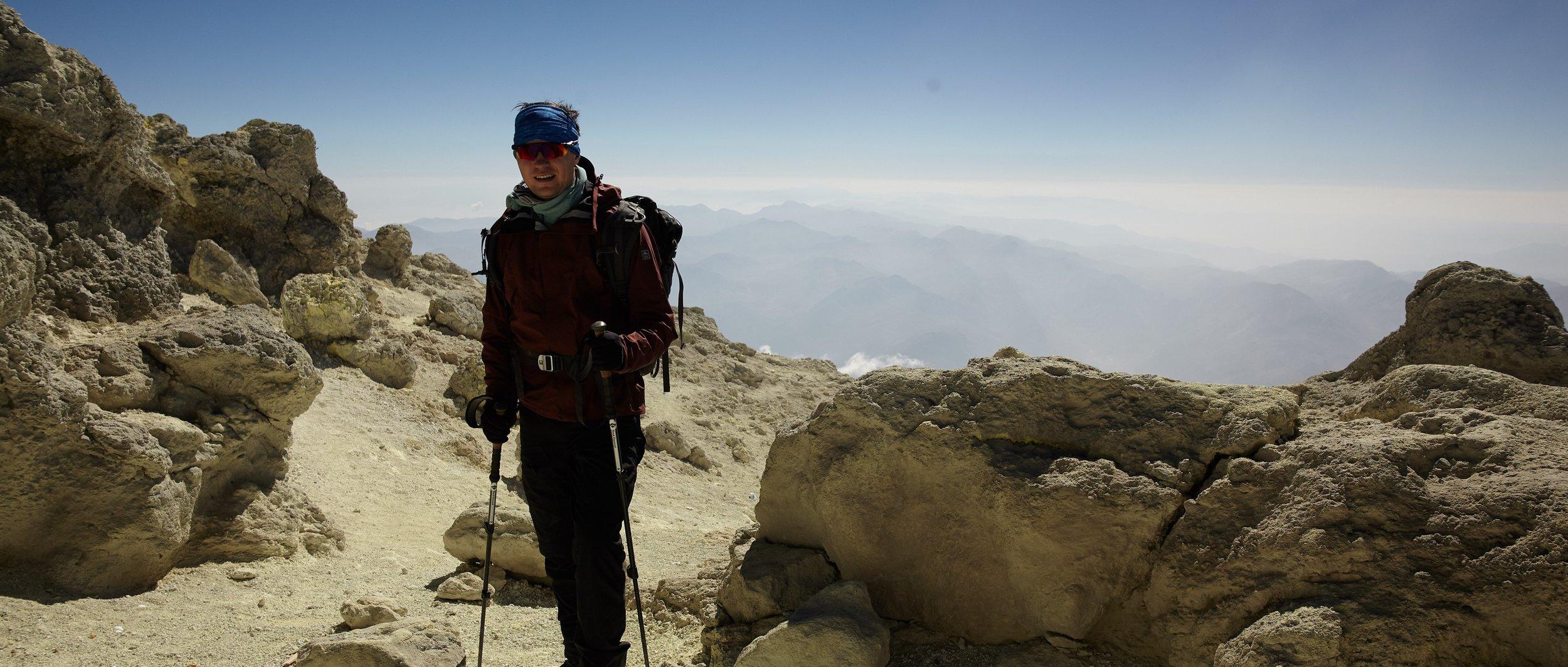 Georgi summit push, Mt. Damavand, Iran