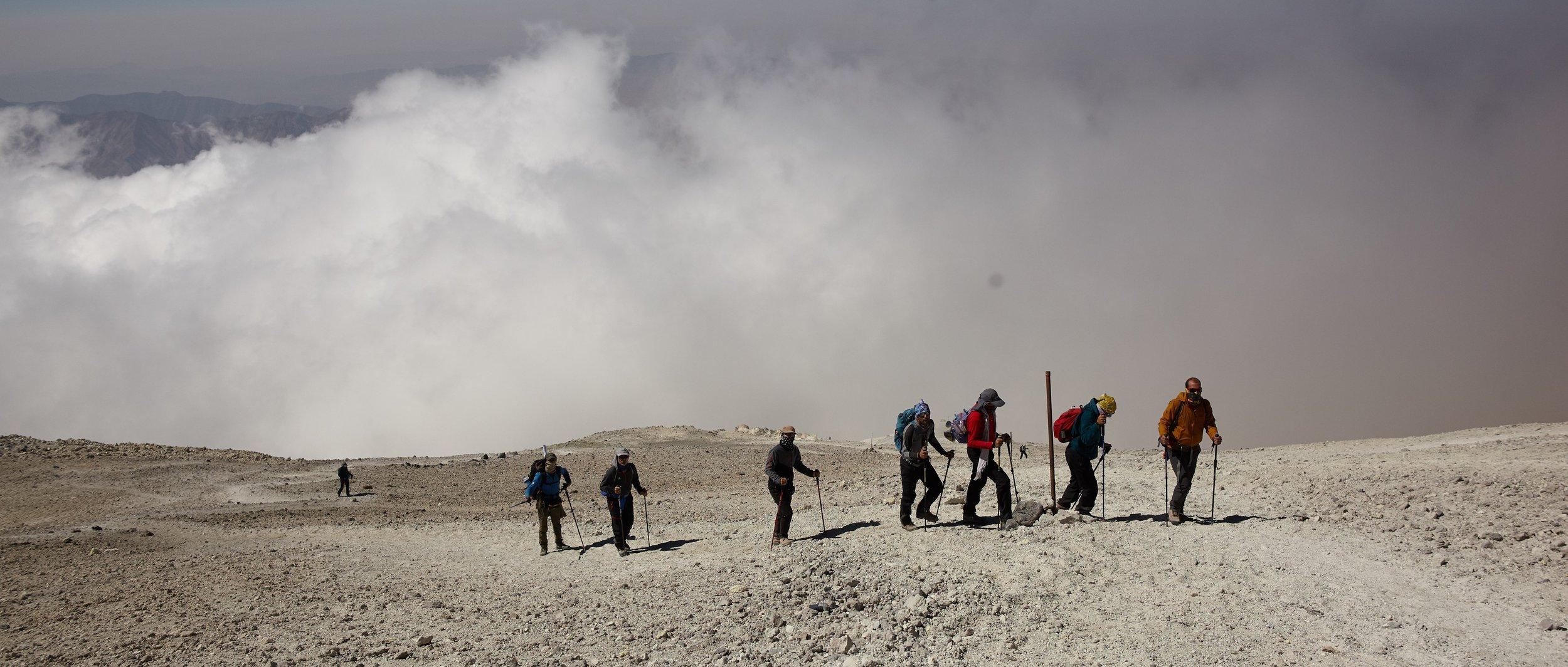 The little Plato near the Peak of Mt. Damavand, Iran