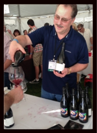 Me pouring Cornerstone Oregon at World of Pinot Noir