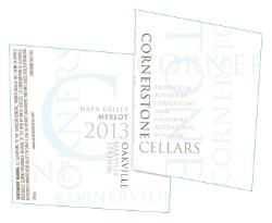 2013Cornerstone Cellars Napa Valley Merlot, Oakville Station Vineyard, Oakville AVA, White Label