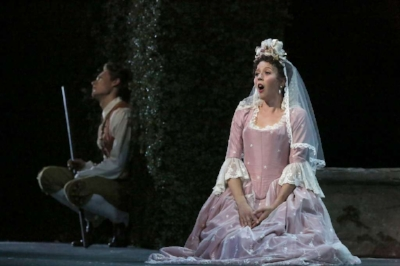 Lisette Oropesa as Susanna in Nozze di Figaro at the San Francisco Opera