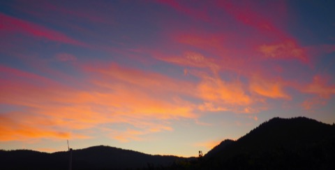Harvest dawn over the Applegate Valley