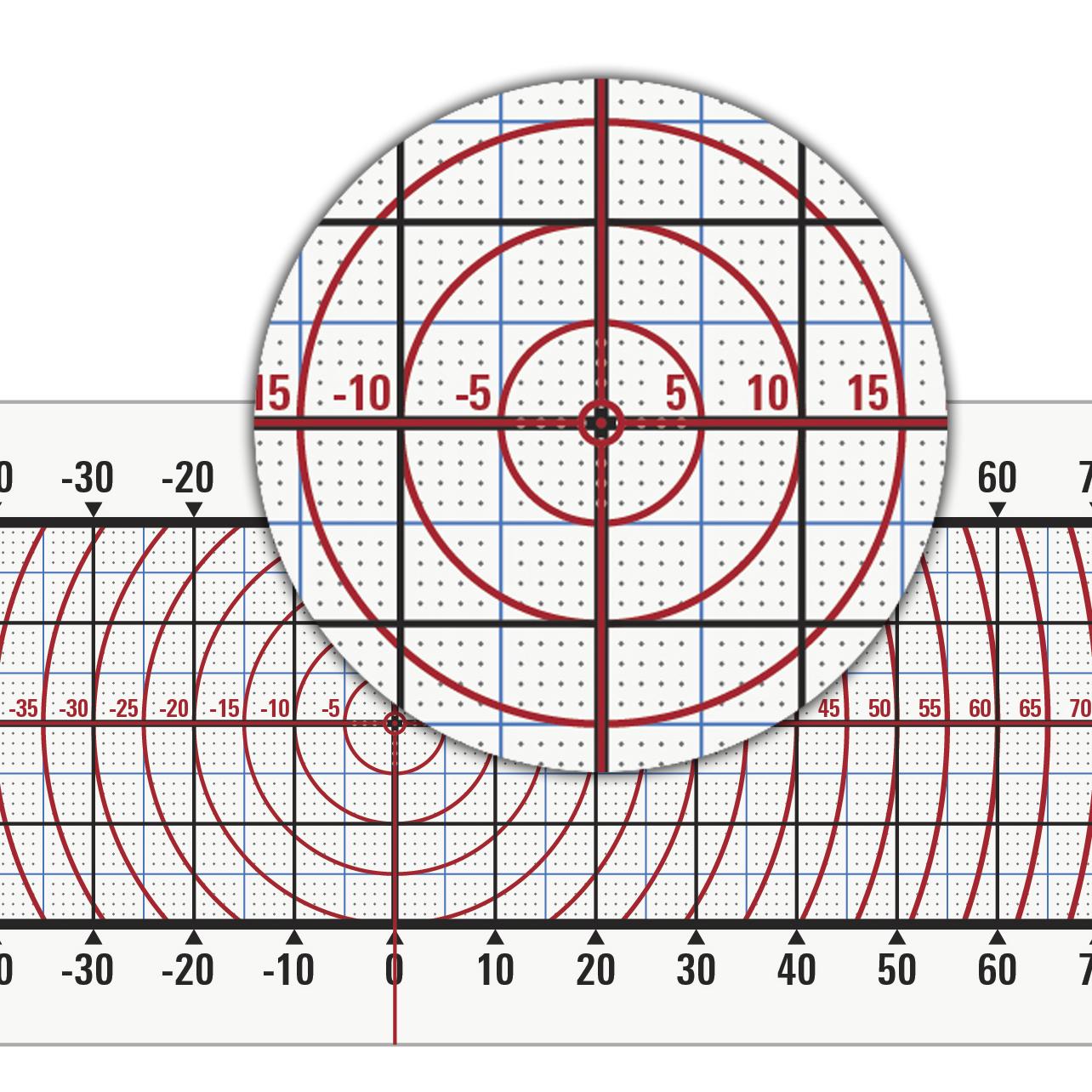 CRACKMON® XL 15040A TickPoints and tri-color Measurement grid improves measurement accuracy across entire 150 x 40 mm range