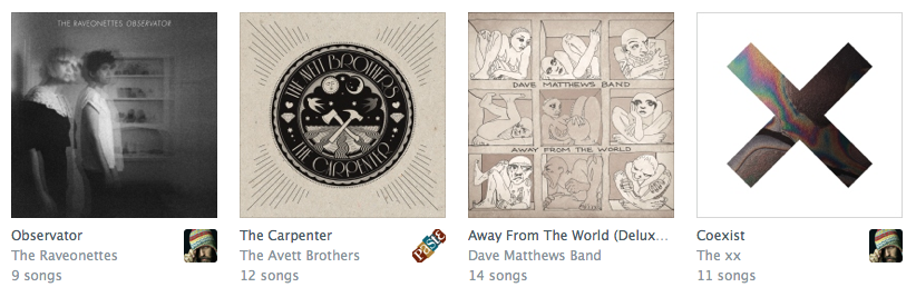 """Rdio's Newest Releases, with two albums I """"want"""" and two I'm interested in."""