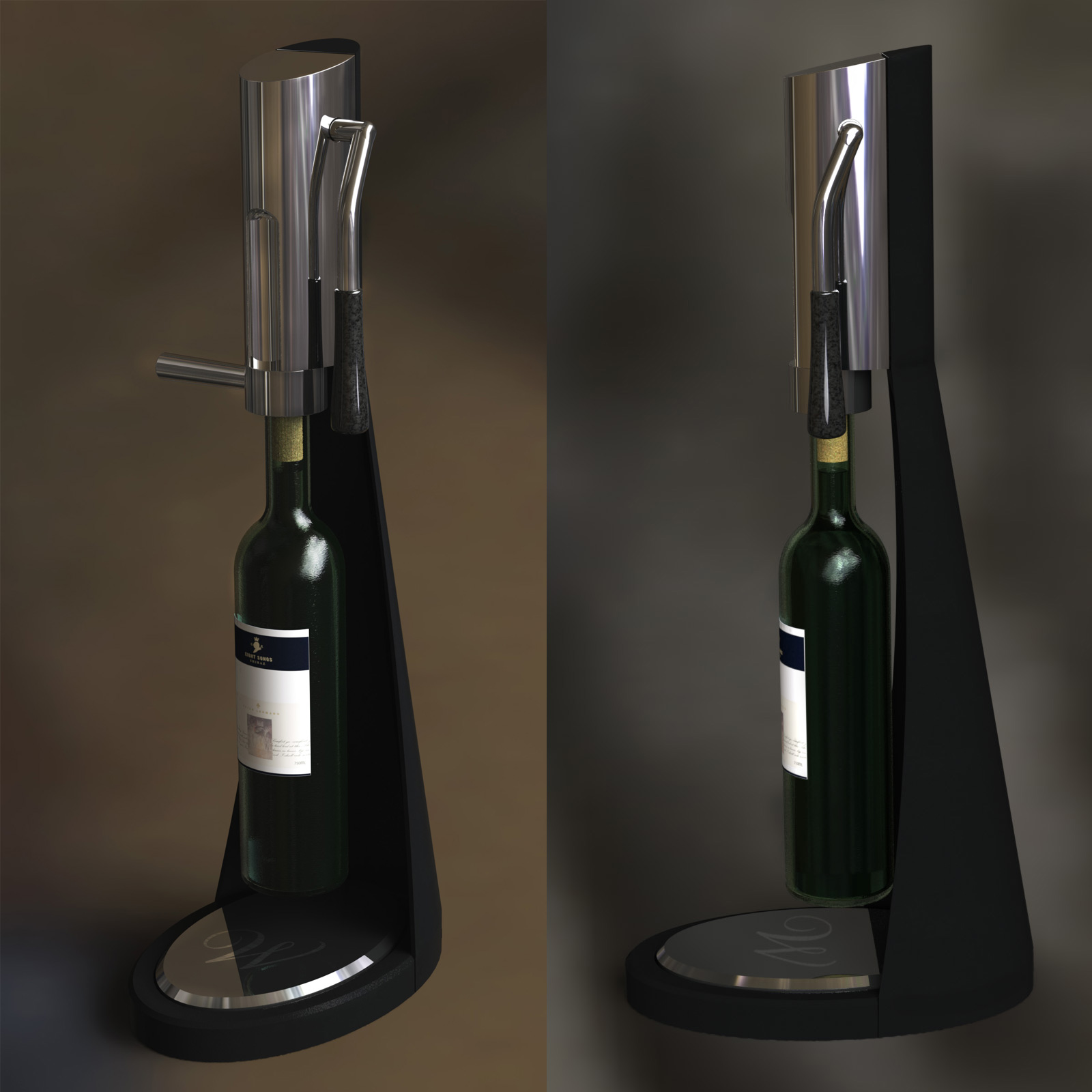 Pre-production renders in Photoview, using the Solidworks models I built for manufacturing.