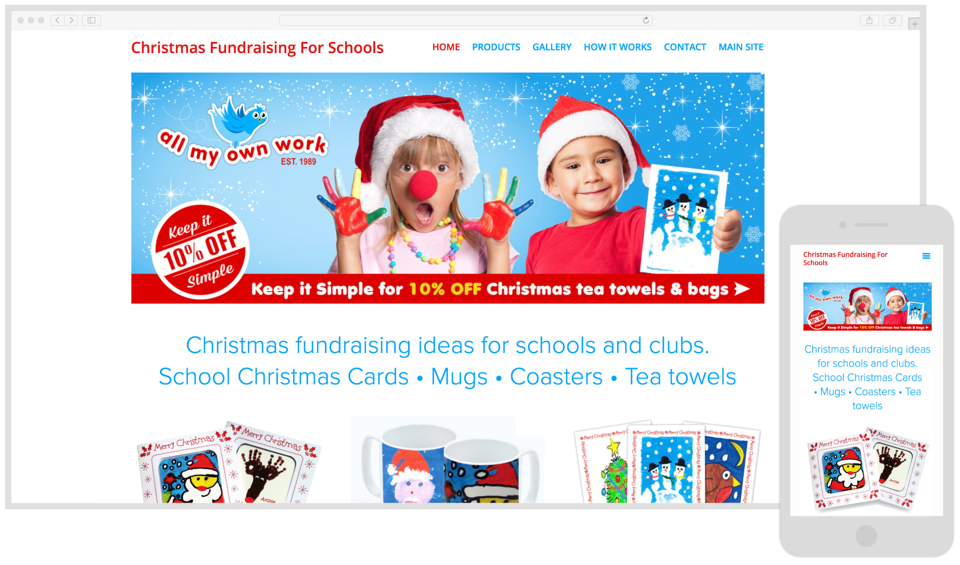 All My Own Work - School Fundraising Products